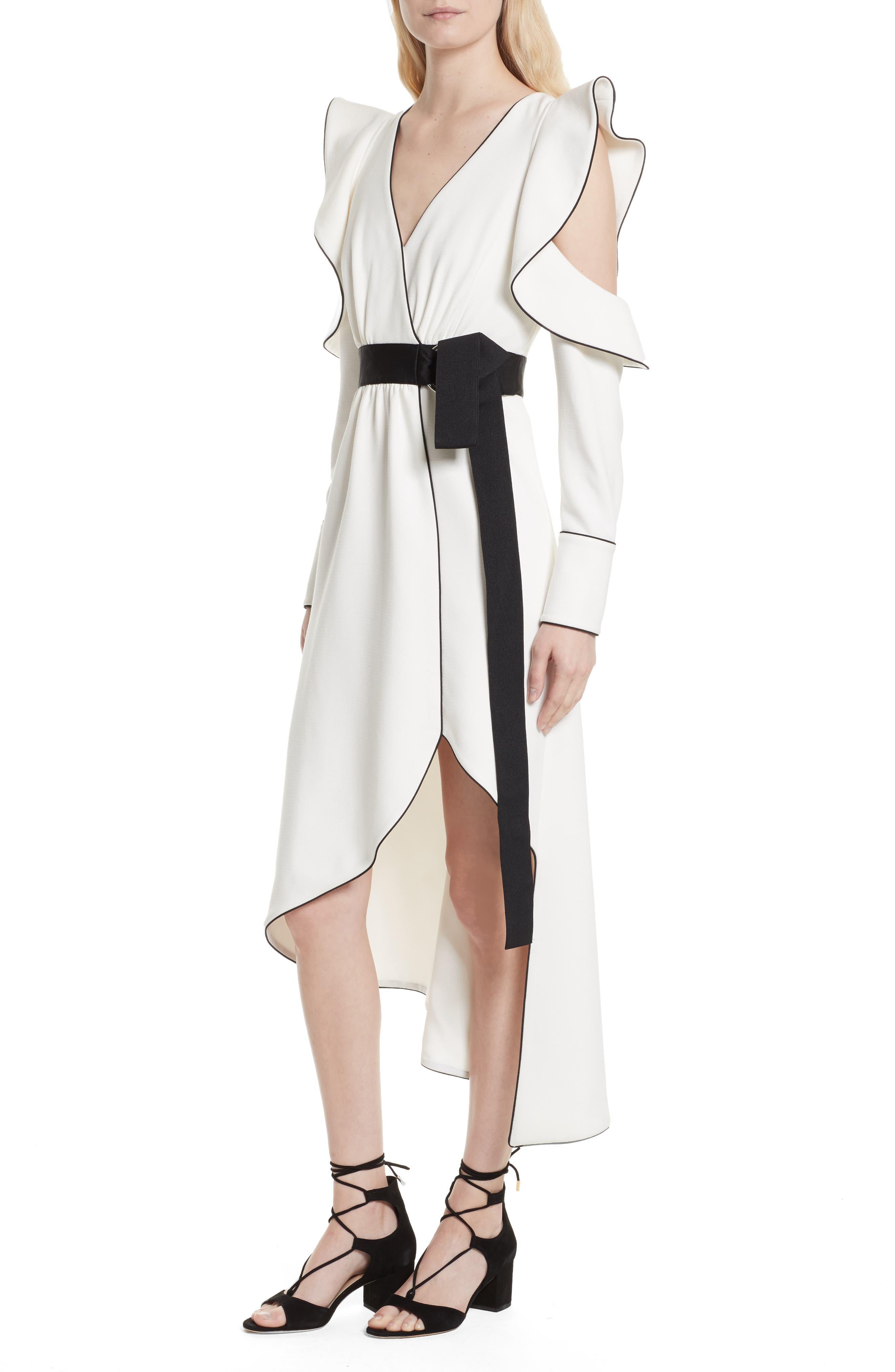 Alternate Image 4  - Self-Portrait Cold Shoulder Asymmetrical Dress