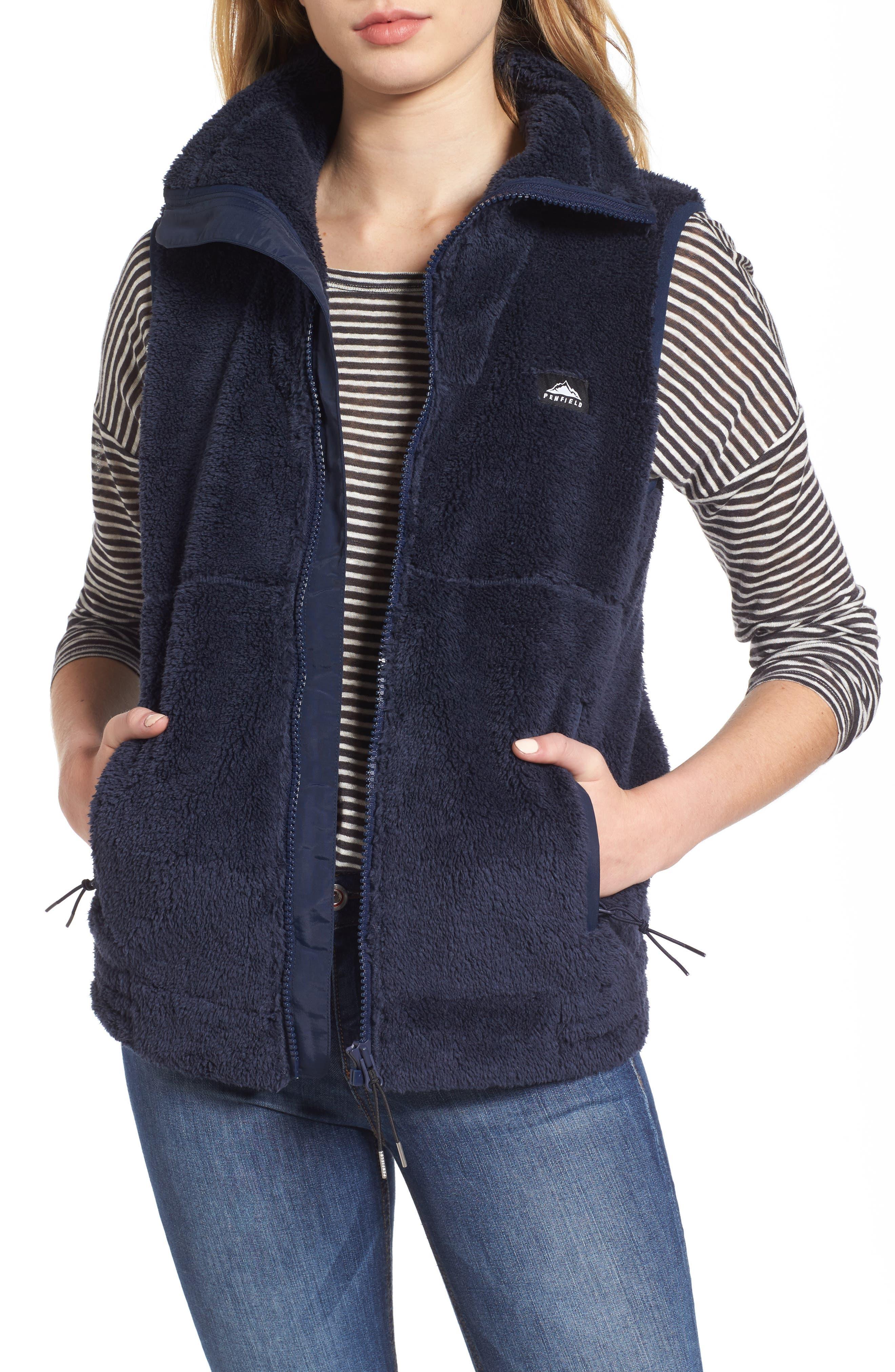 Fleece Vest,                             Main thumbnail 1, color,                             Navy