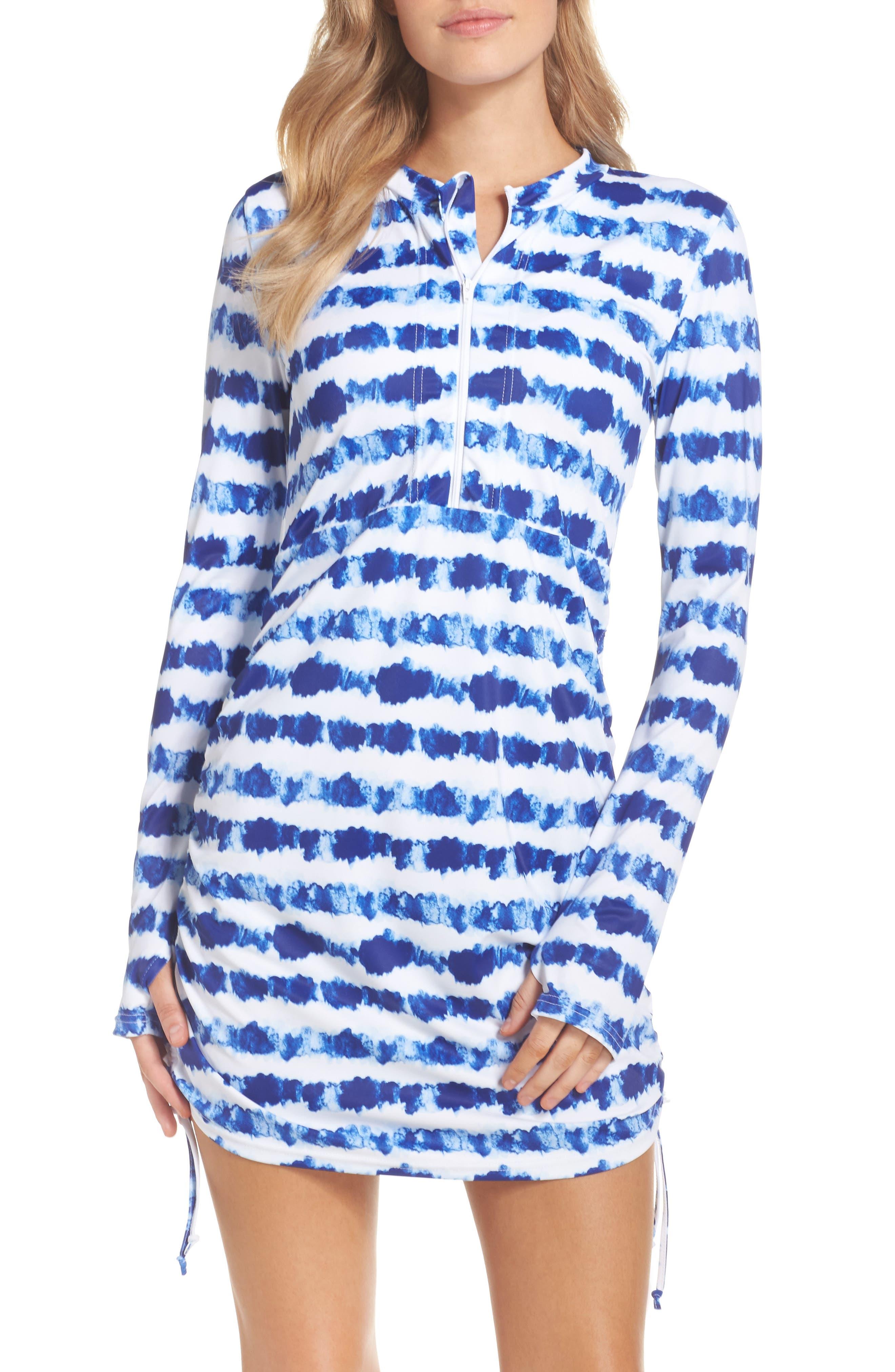 Swim Dress,                             Main thumbnail 1, color,                             Tie Dye Stripe