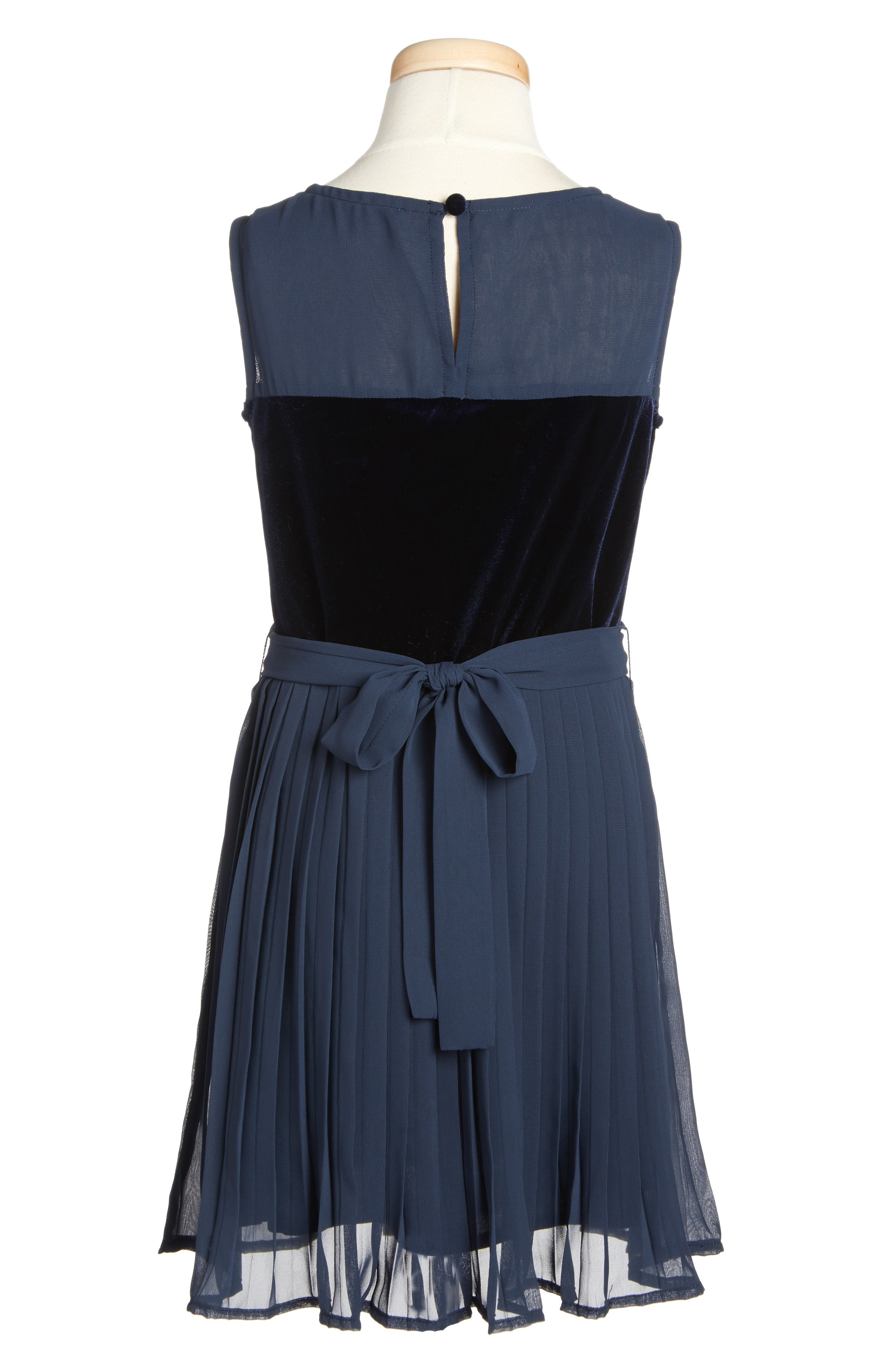 Sleeveless Party Dress,                             Alternate thumbnail 2, color,                             Navy Blue