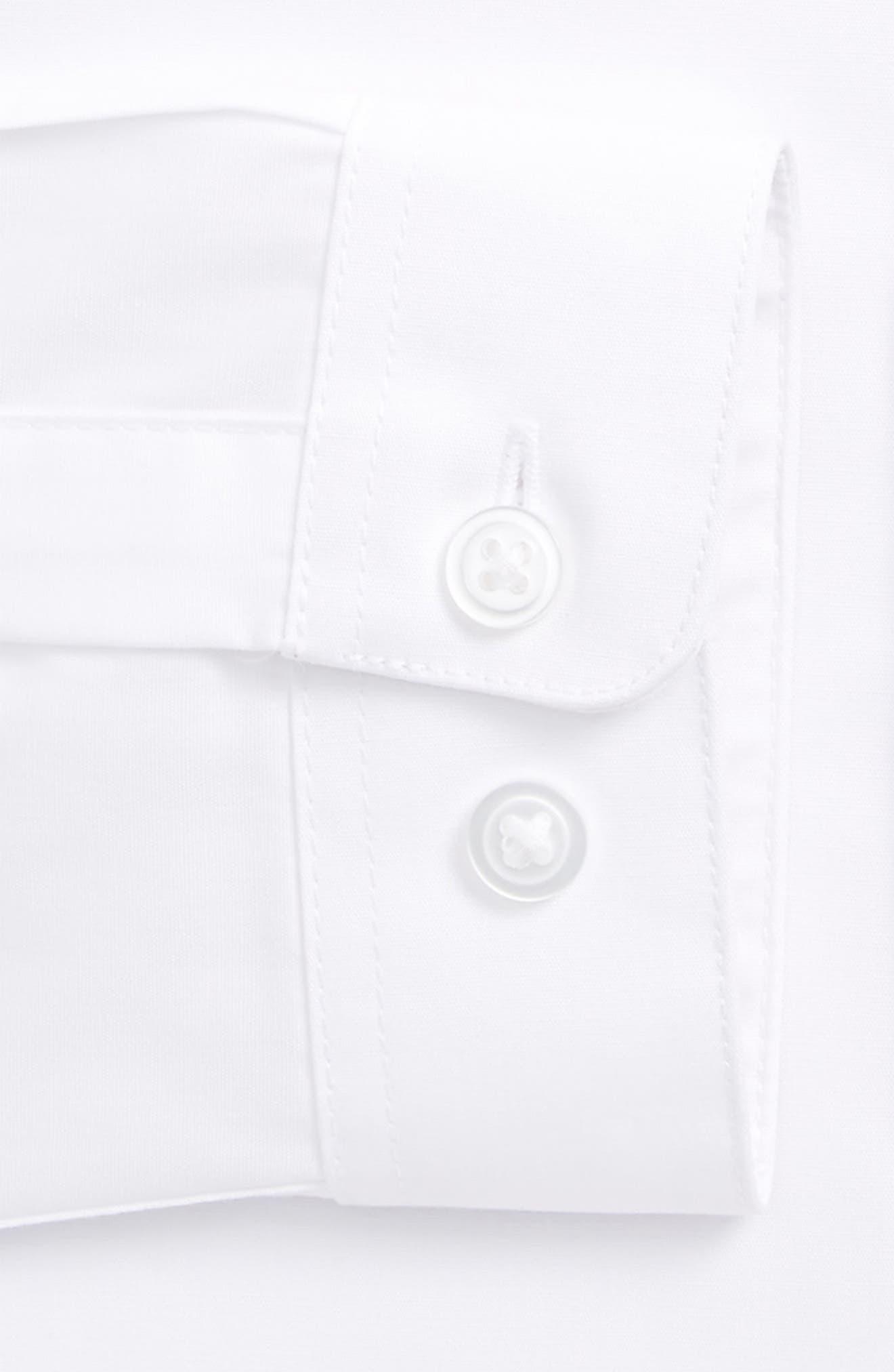 Slim Fit Dress Shirt,                             Alternate thumbnail 6, color,                             White