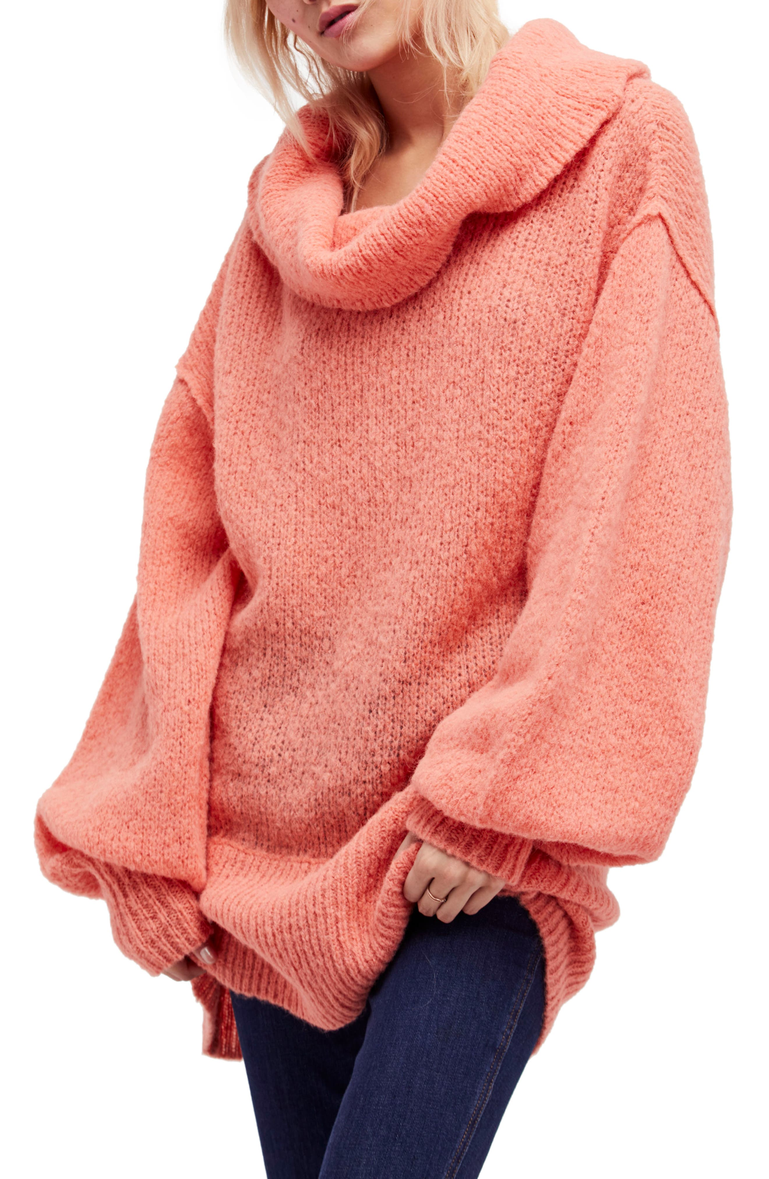 Ophelia Off the Shoulder Sweater,                         Main,                         color, Peach
