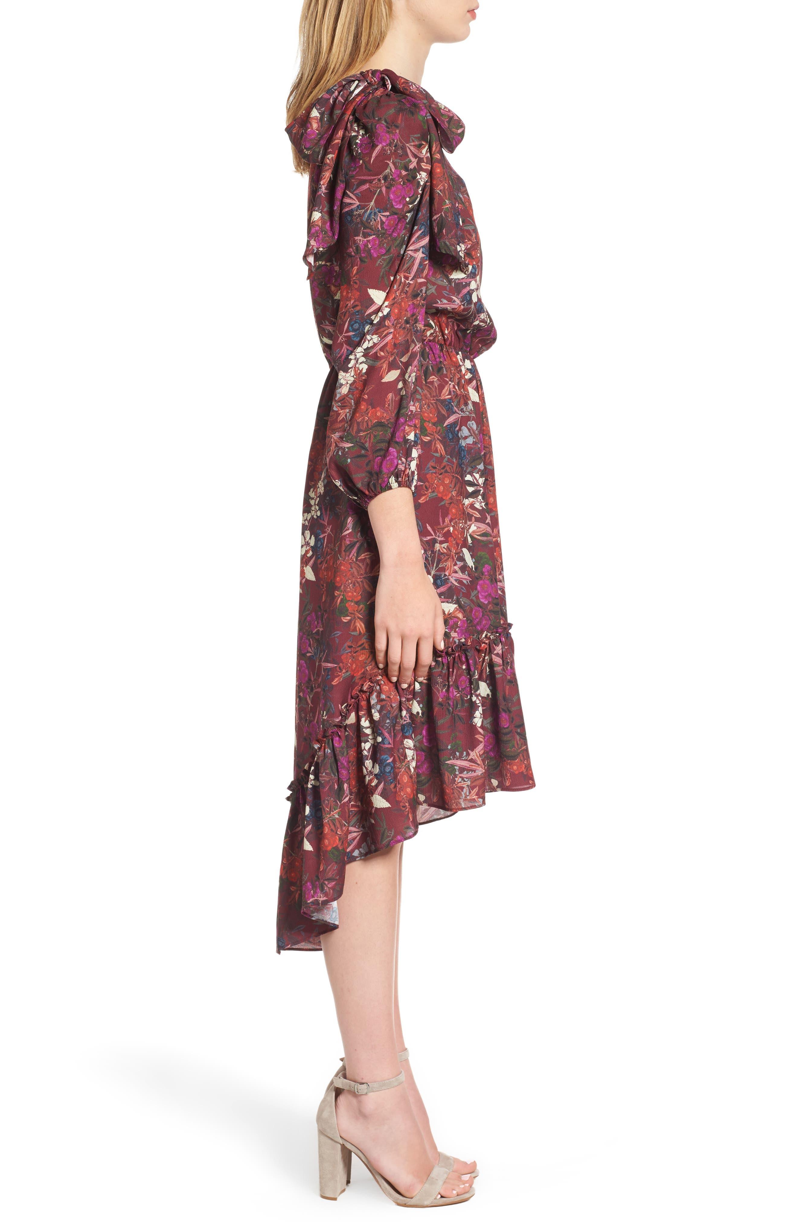 Alternate Image 3  - Chelsea28 Asymmetrical Tiered Blouson Dress