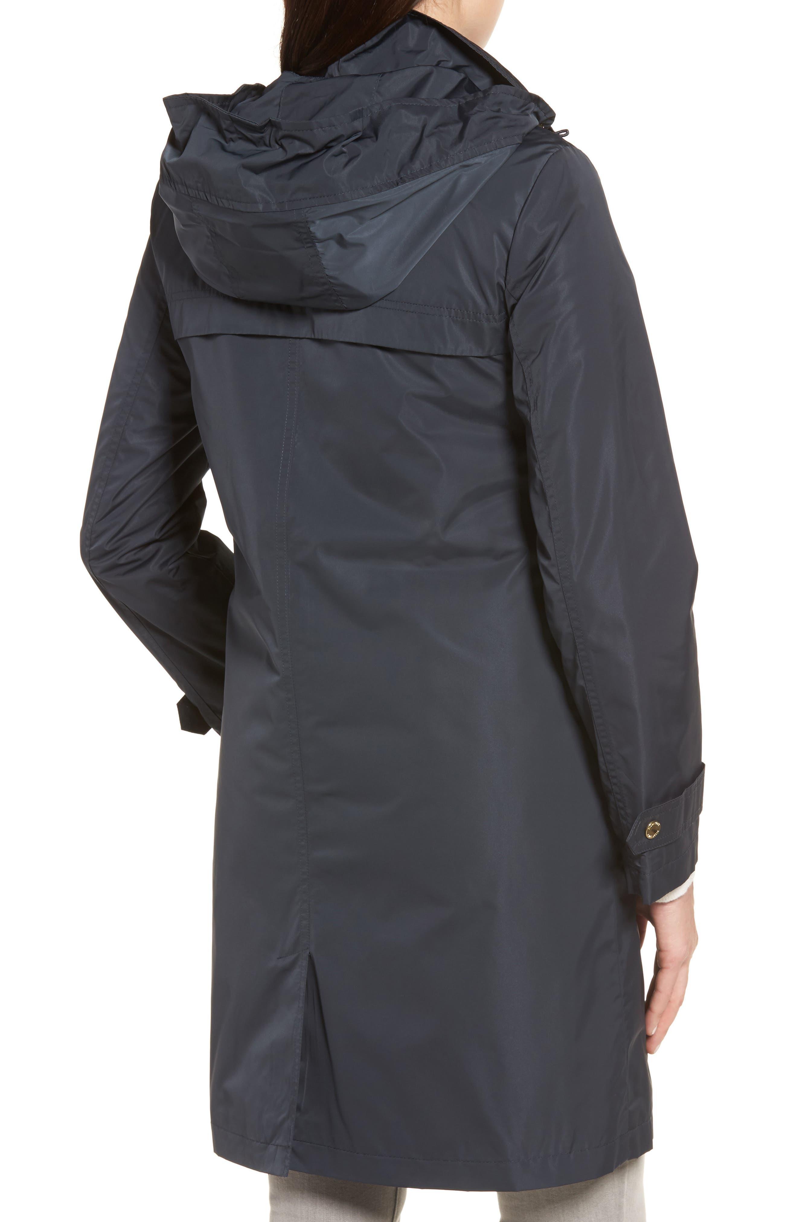 Raincoat with Detachable Hood,                             Alternate thumbnail 2, color,                             Navy