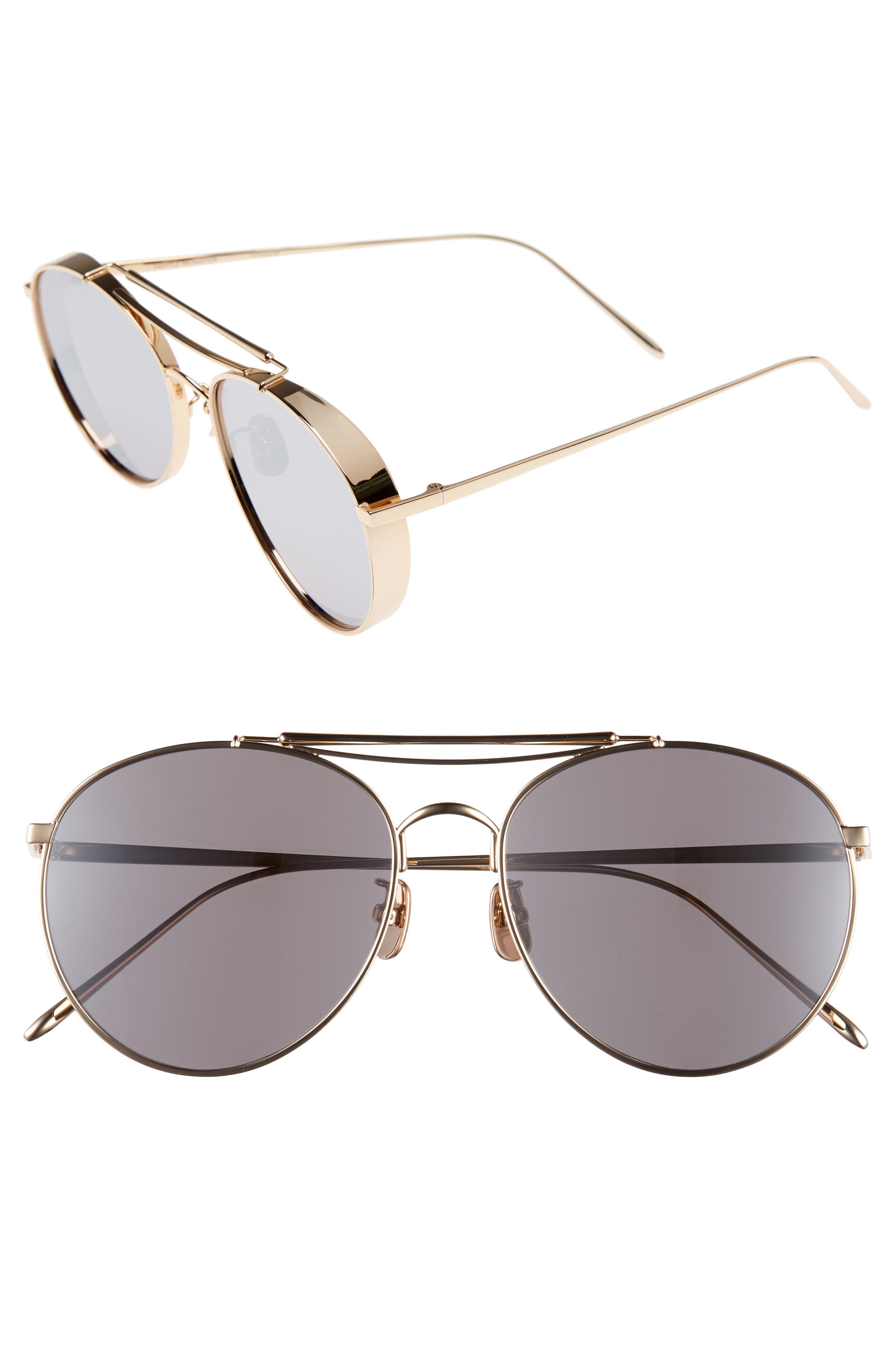 GENTLE MONSTER Big Bully 56mm Aviator Sunglasses
