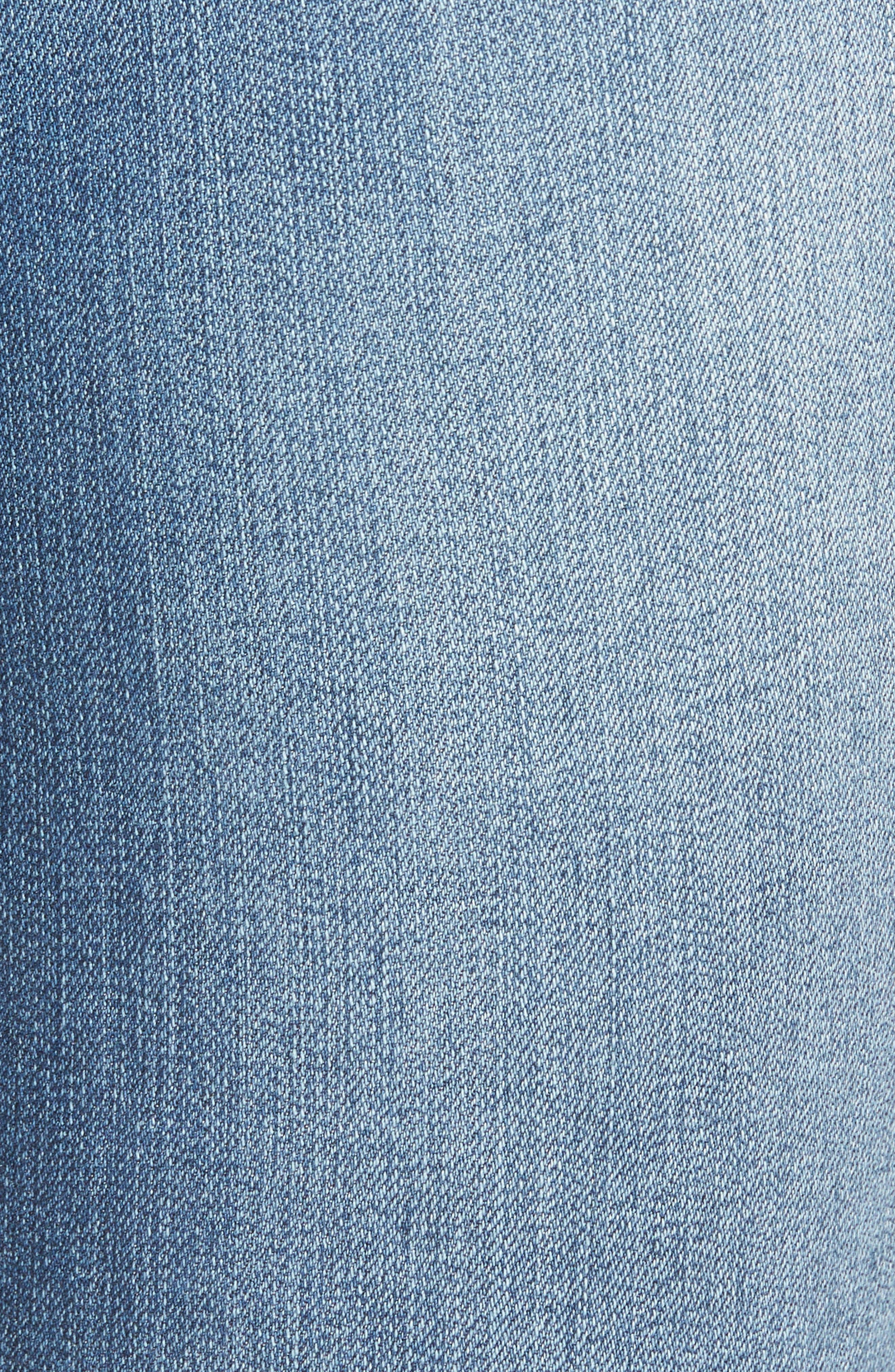 Alternate Image 5  - 1822 Denim Step Hem Skinny Jeans (Greg)