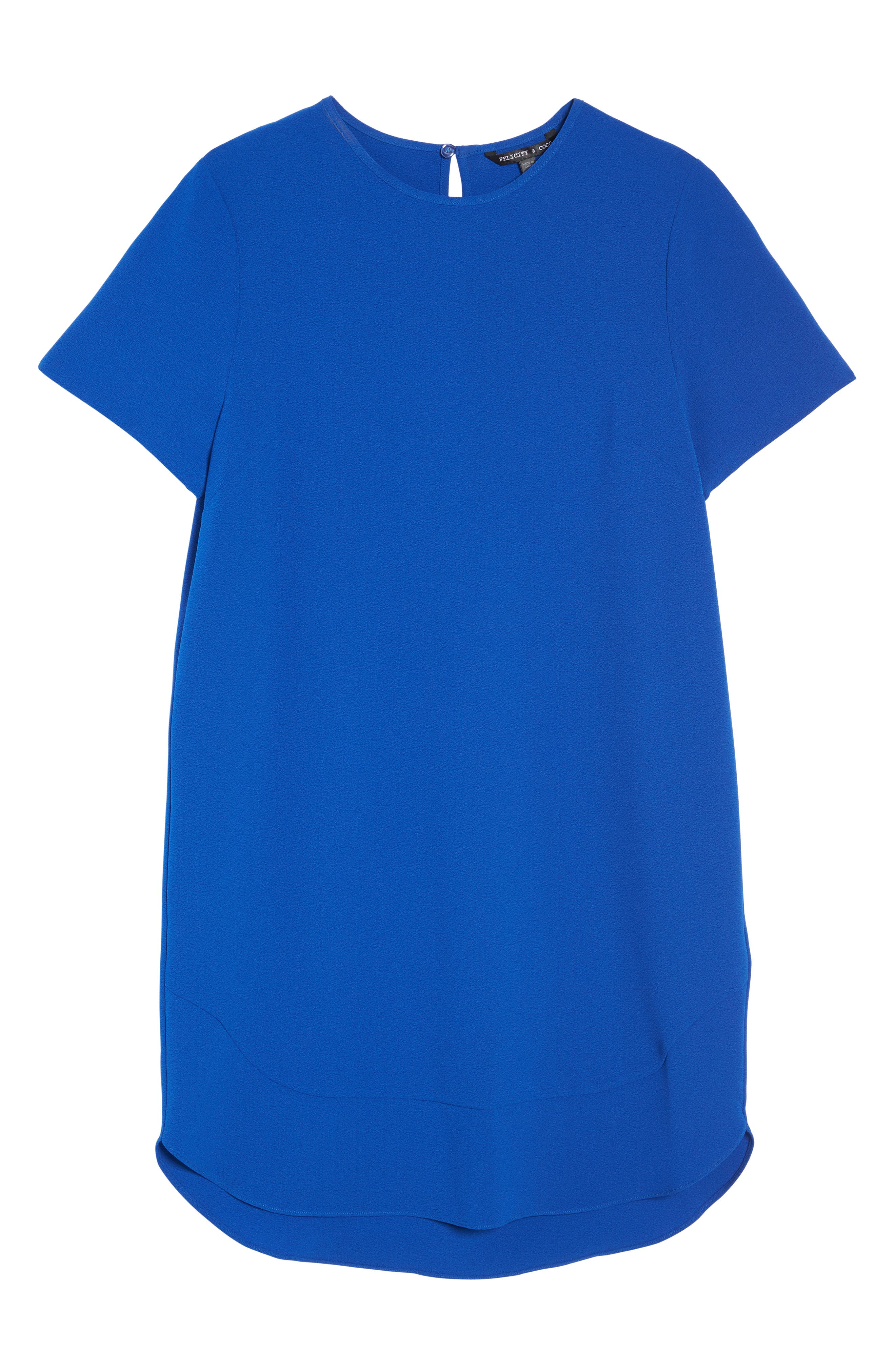 Emerson Shift Dress,                             Alternate thumbnail 6, color,                             Cobalt
