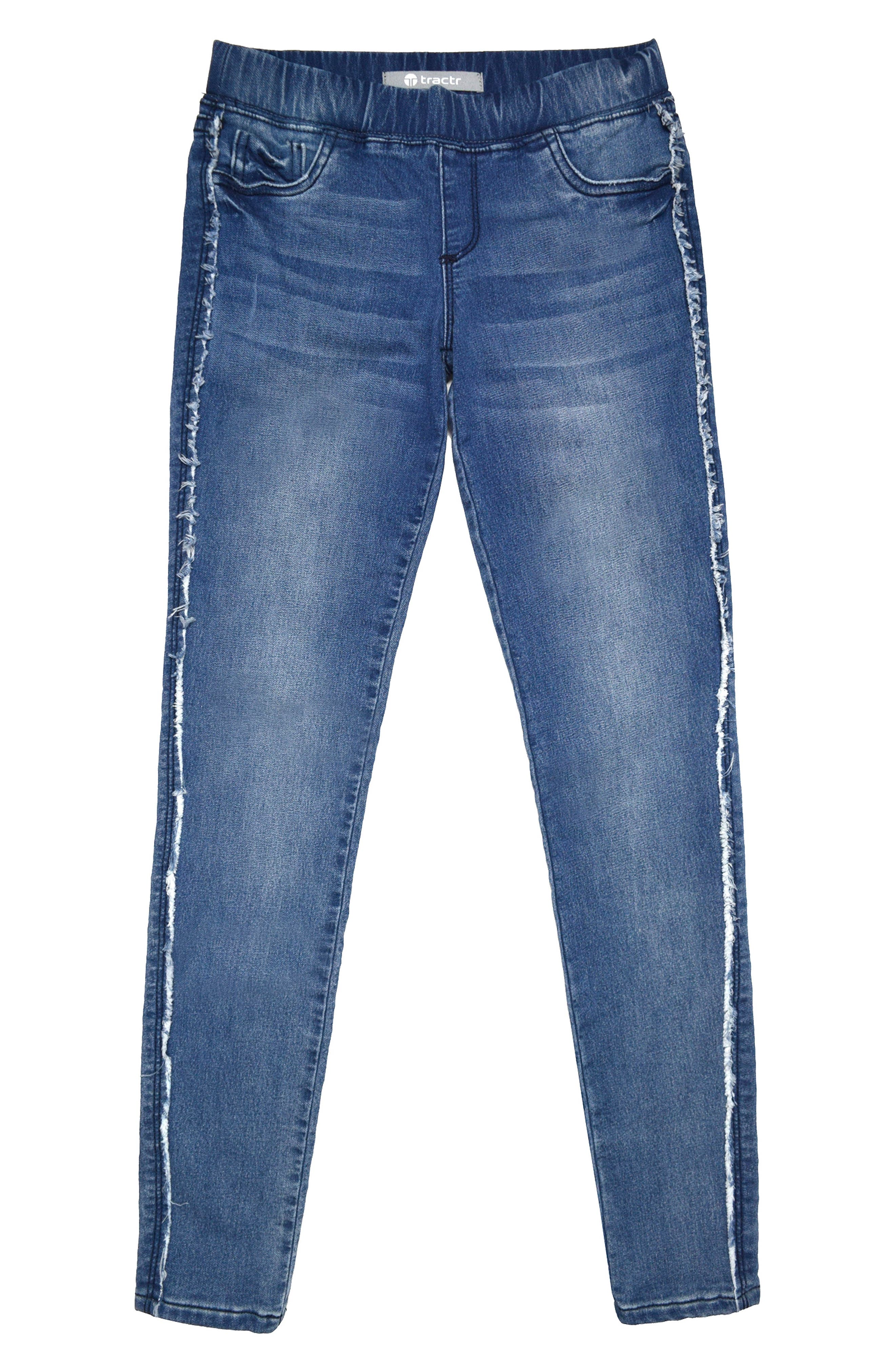Pull On Skinny Jeans,                             Main thumbnail 1, color,                             Indigo