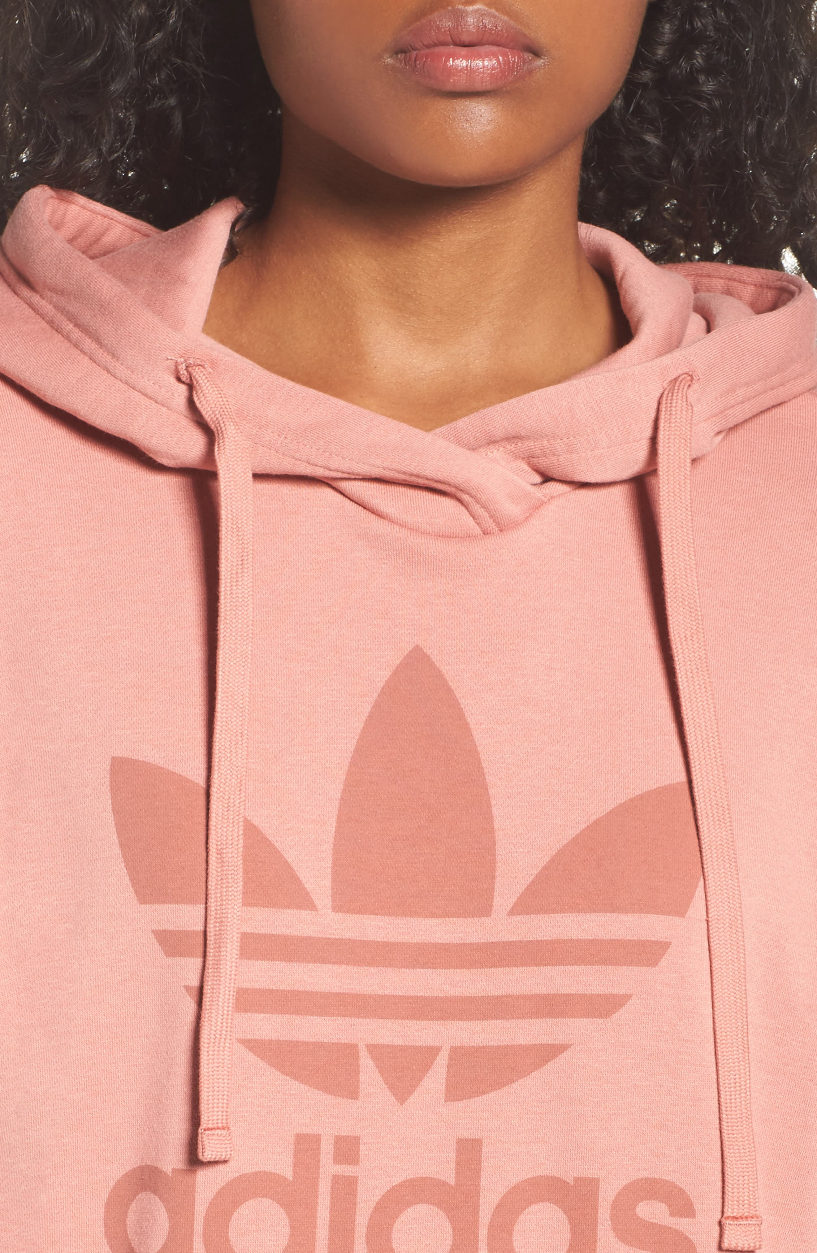 Originals Trefoil Hoodie,                             Alternate thumbnail 7, color,                             Raw Pink
