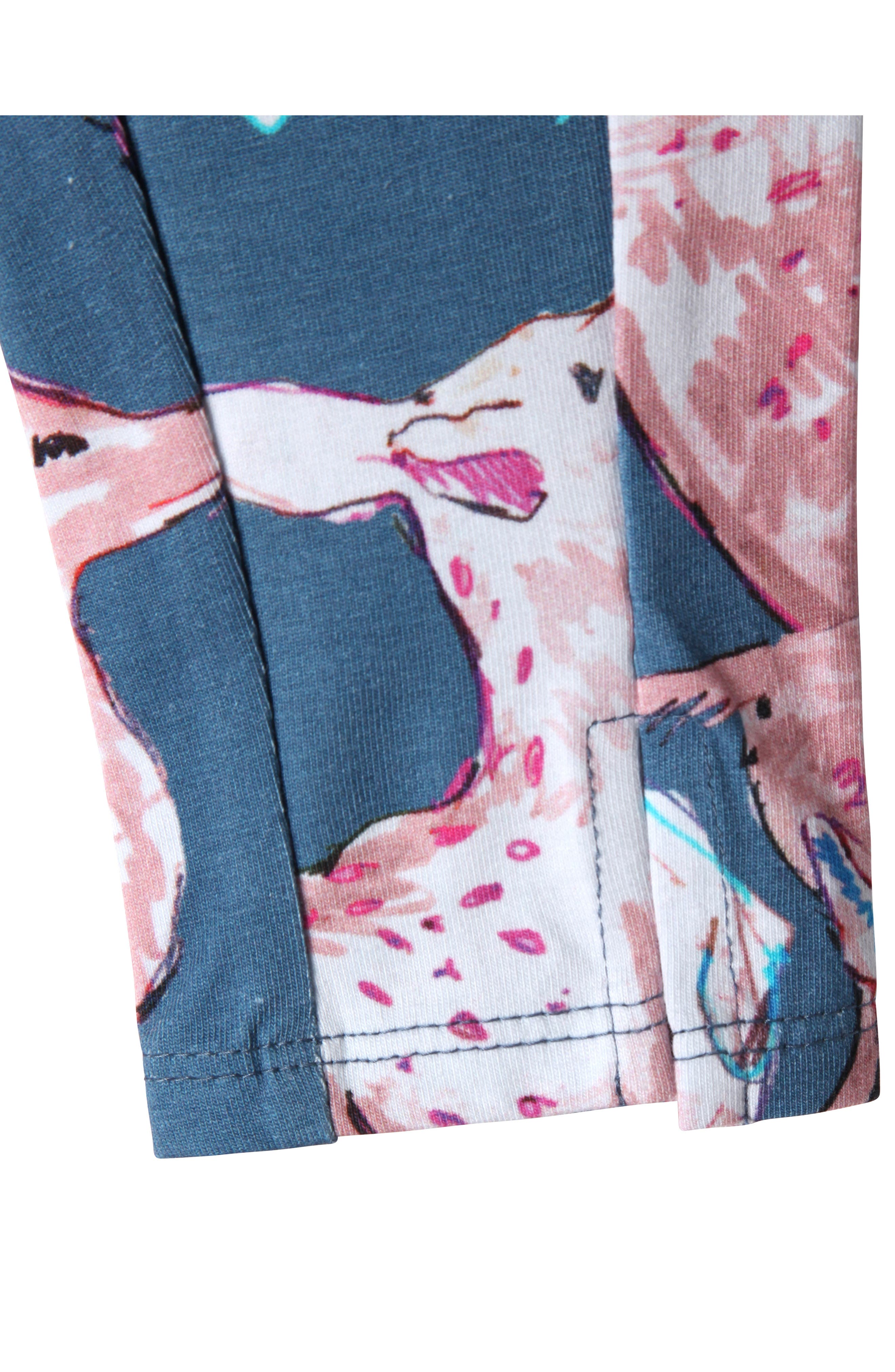 Alternate Image 2  - Art & Eden Diane Leggings (Baby Girls)