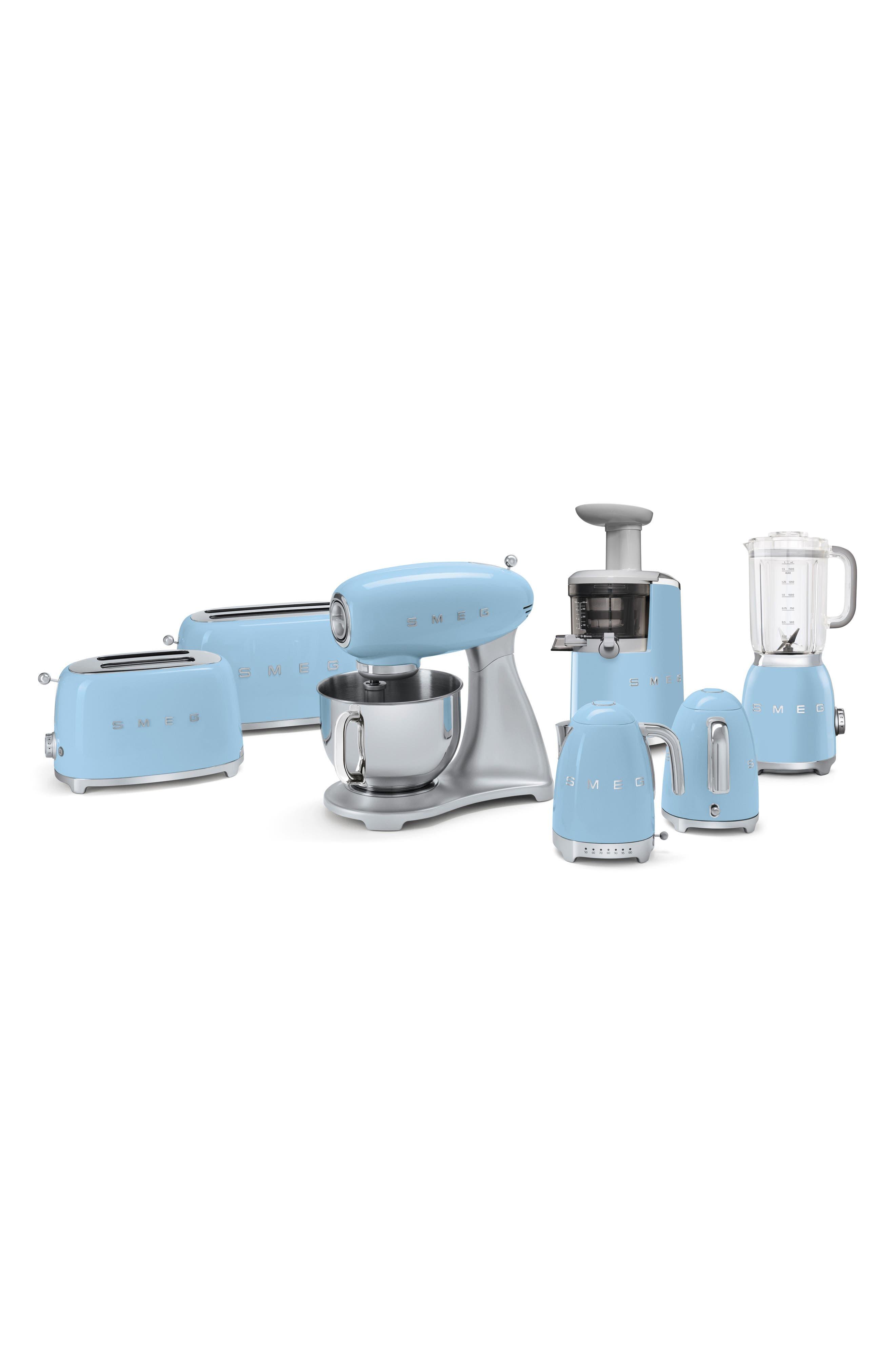 50s Retro Style Five-Quart Stand Mixer,                             Alternate thumbnail 3, color,                             Pastel Blue