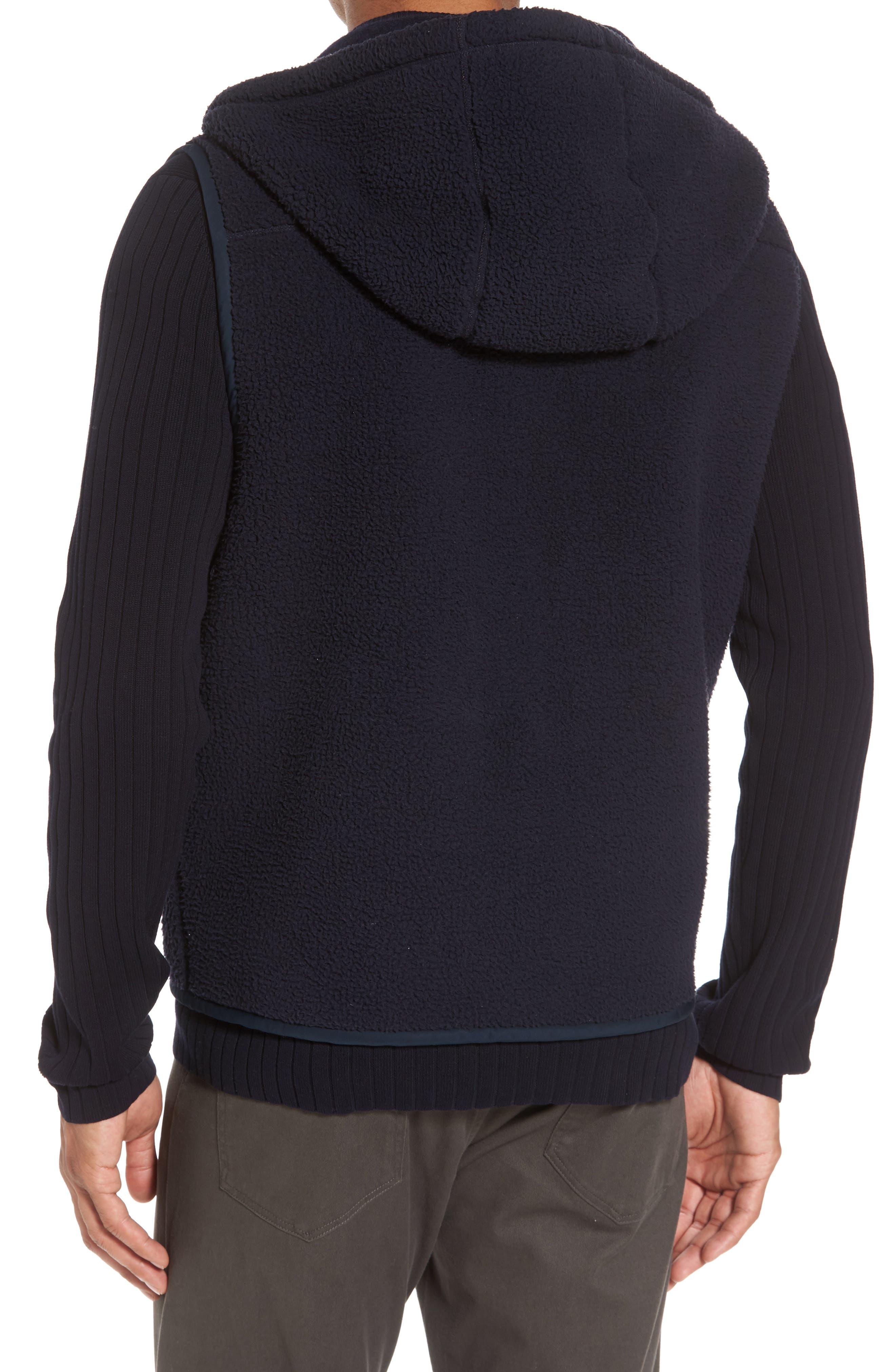 Alternate Image 2  - Vince Reversible Hooded Faux Shearling Vest