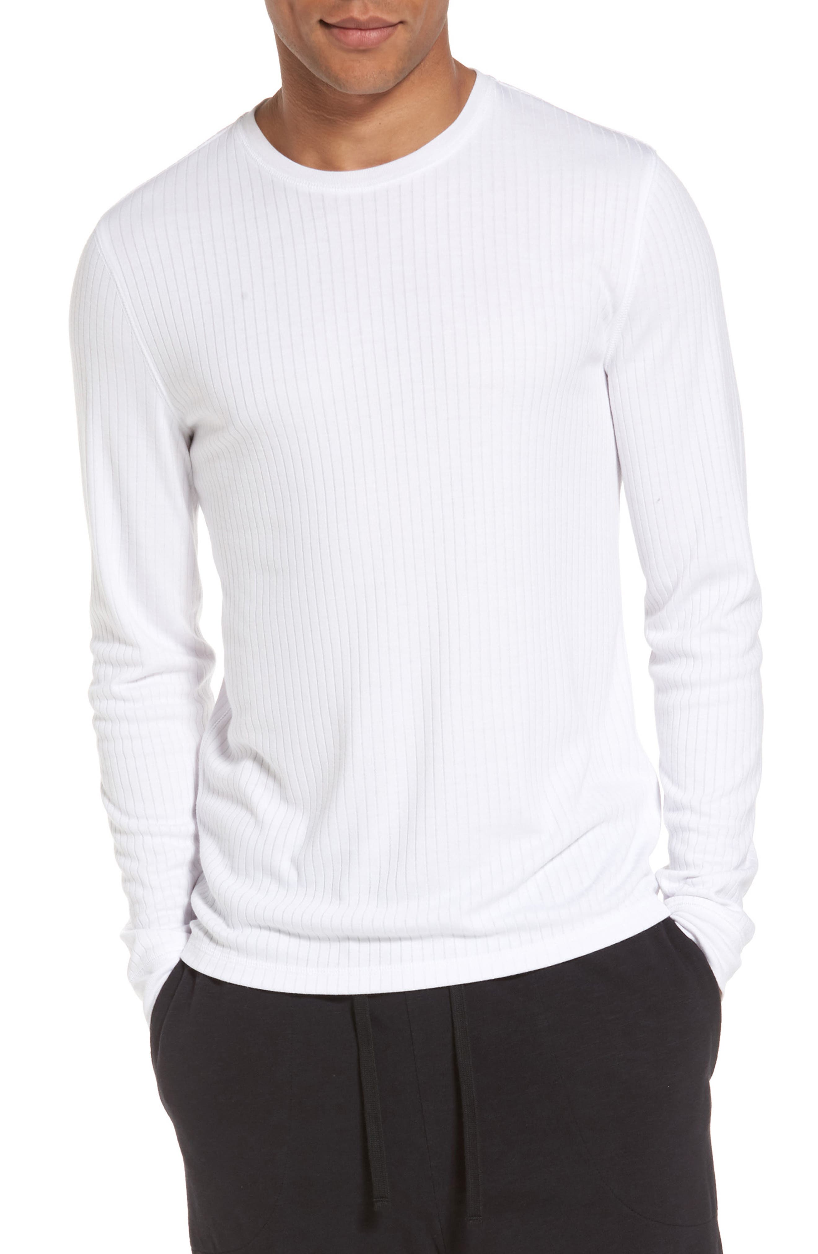Ribbed Pullover,                         Main,                         color, Optic White