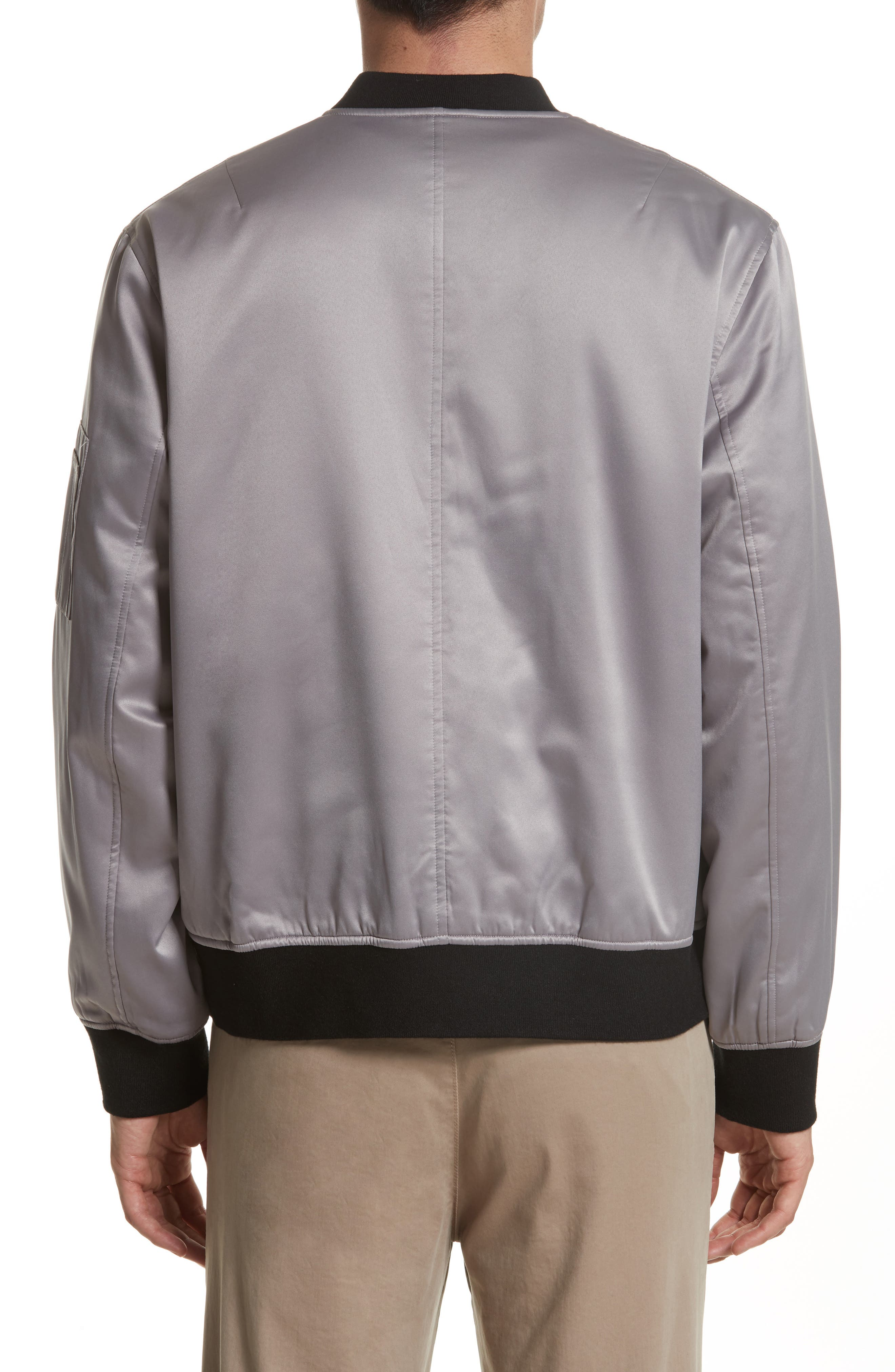 Alternate Image 2  - OVADIA & SONS Reversible Zip Front Bomber Jacket