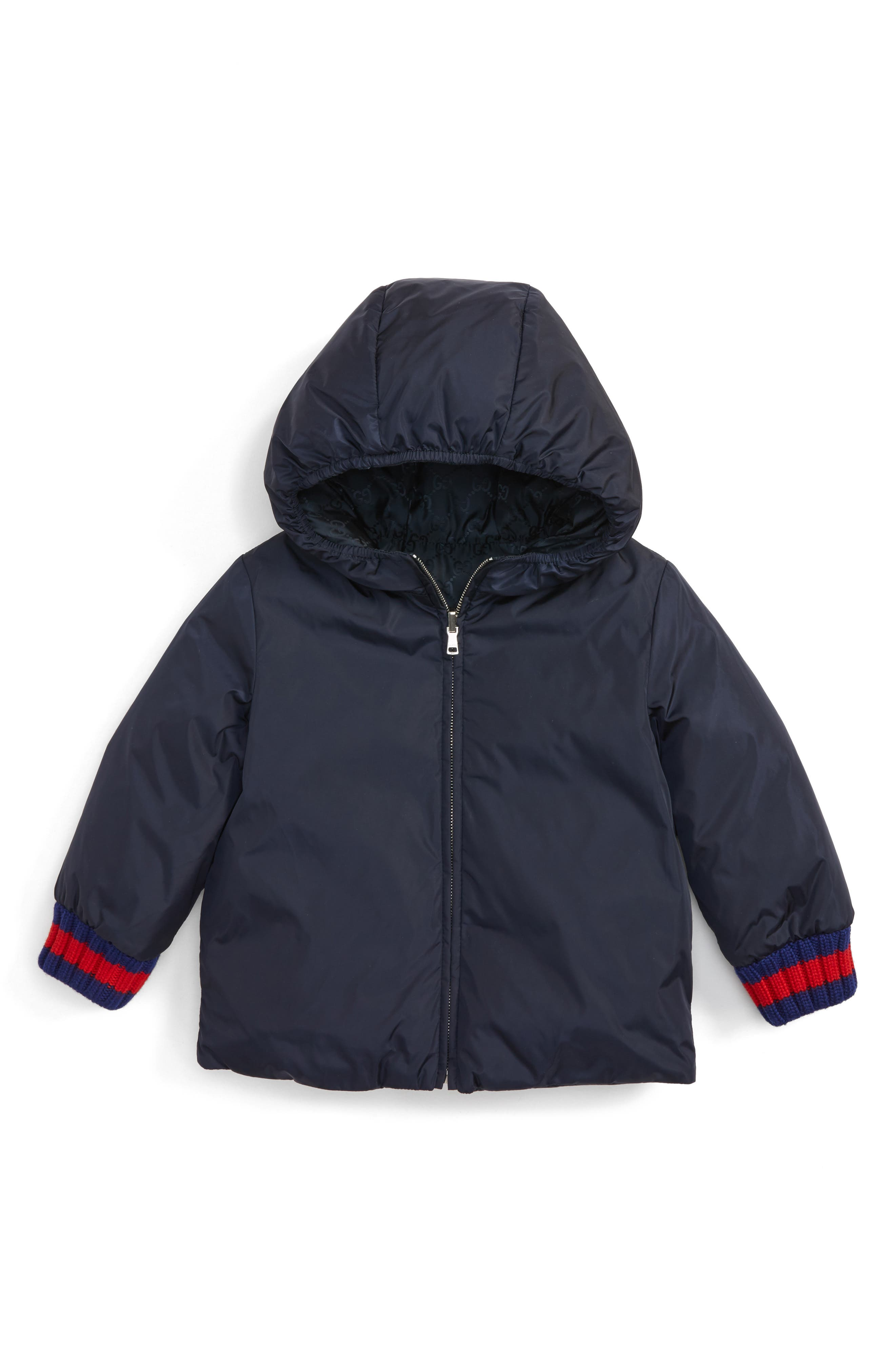 Gucci Reversible GG Jacquard Water-Resistant Down Jacket (Baby)