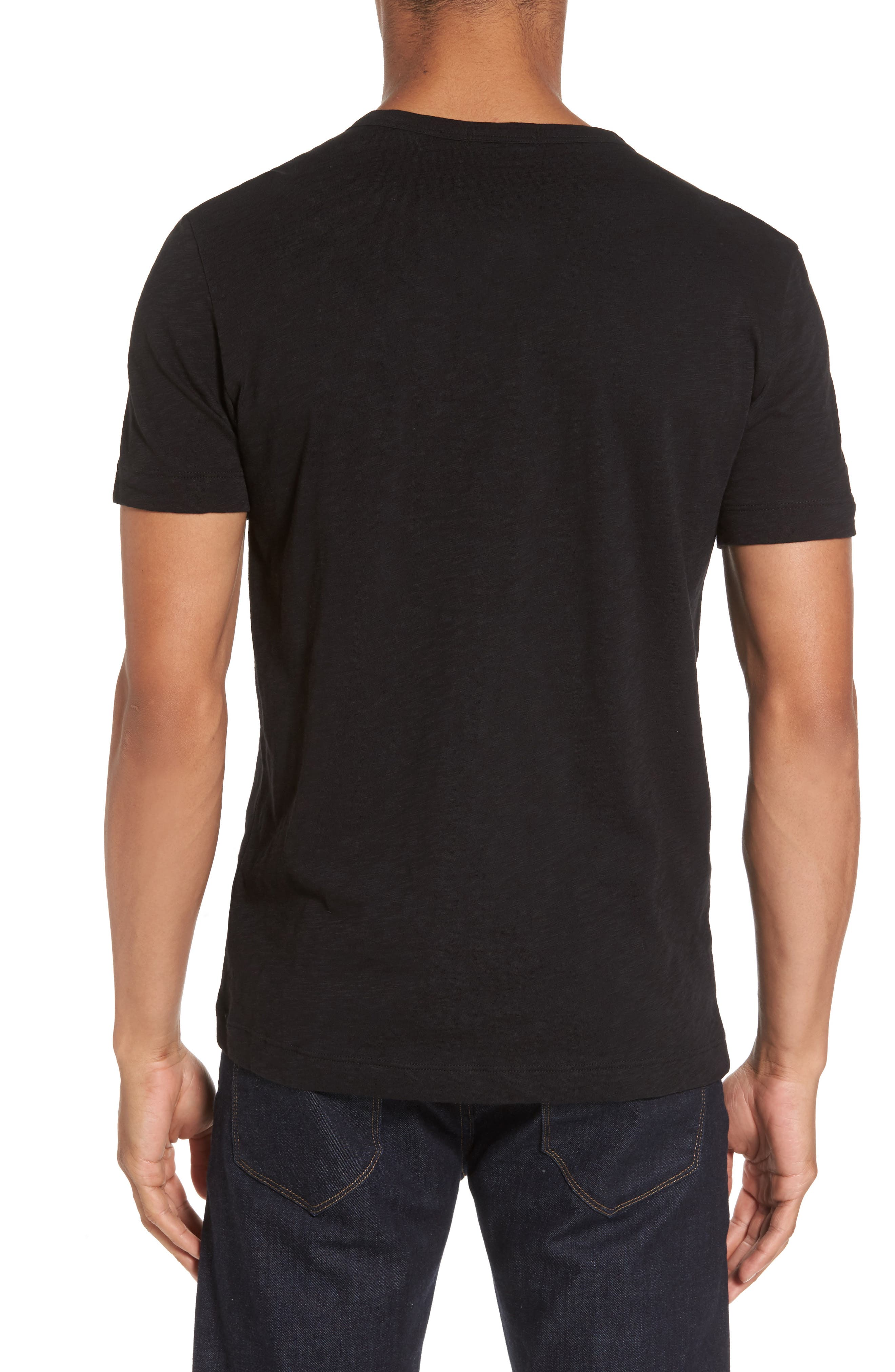 Gaskell Henley T-Shirt,                             Alternate thumbnail 2, color,                             Black