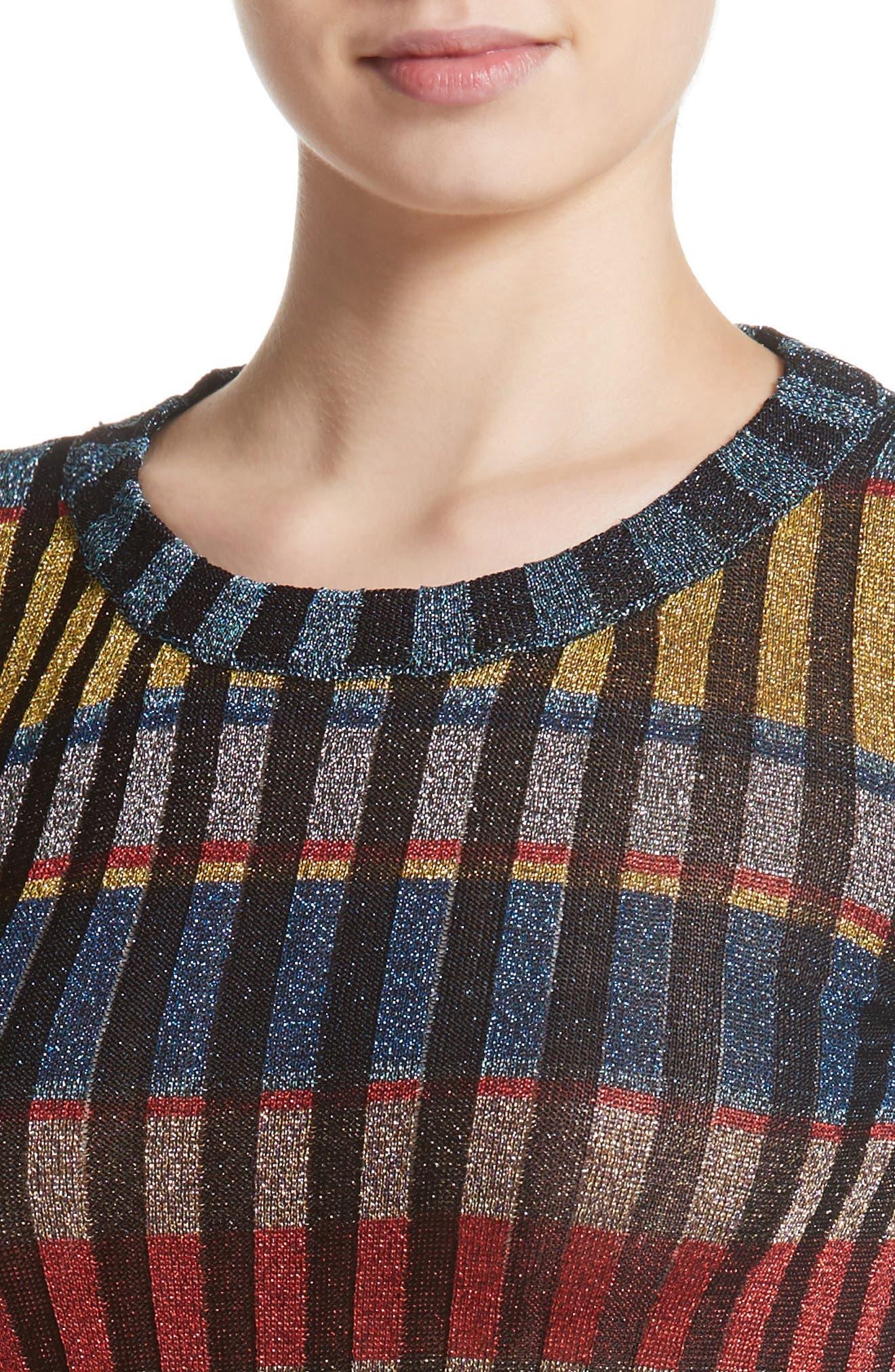 Alternate Image 5  - Missoni Metallic Stripe Knit Maxi Dress