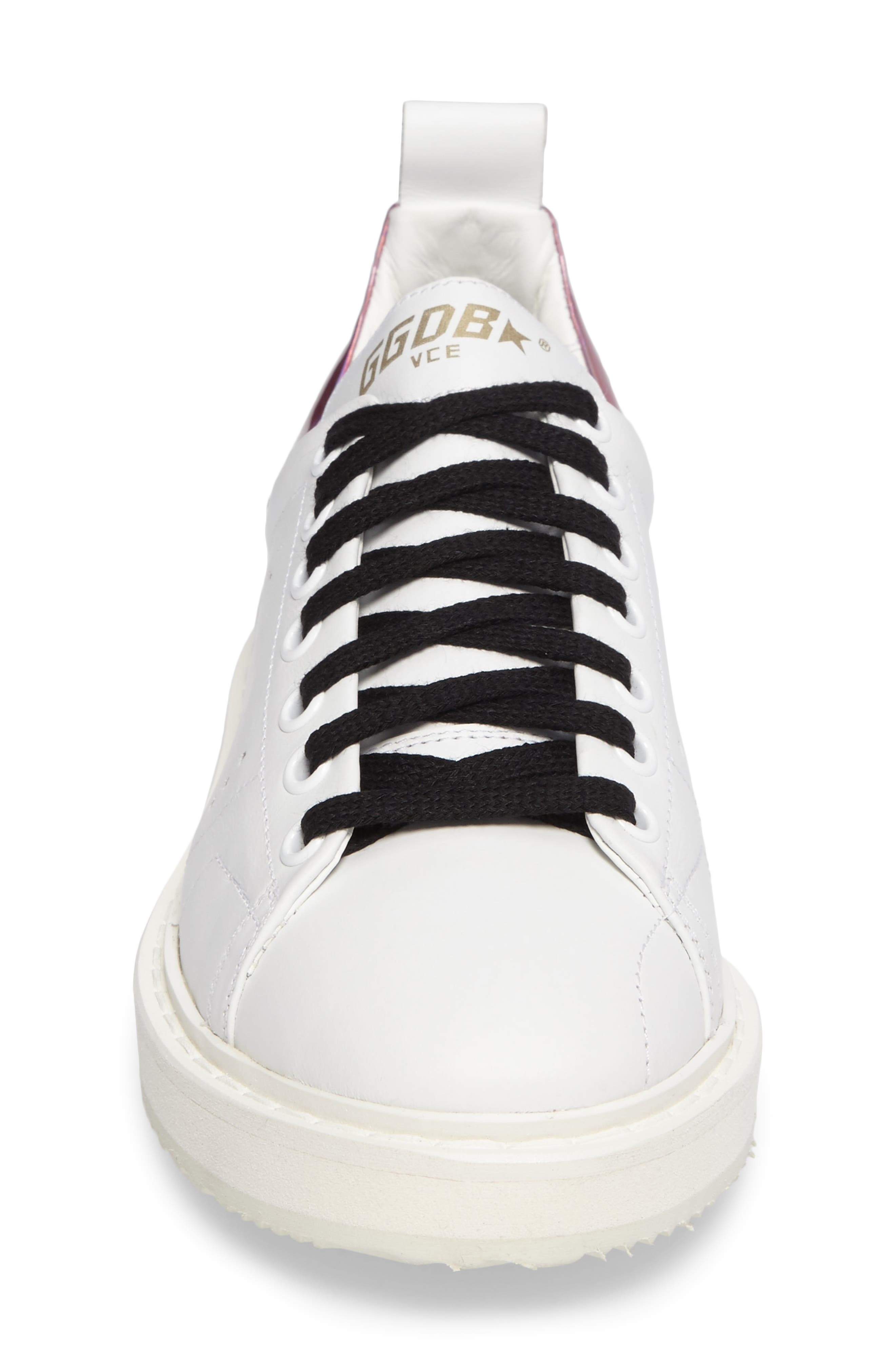 Starter Low Top Sneaker,                             Alternate thumbnail 4, color,                             White/ Pink Jelly