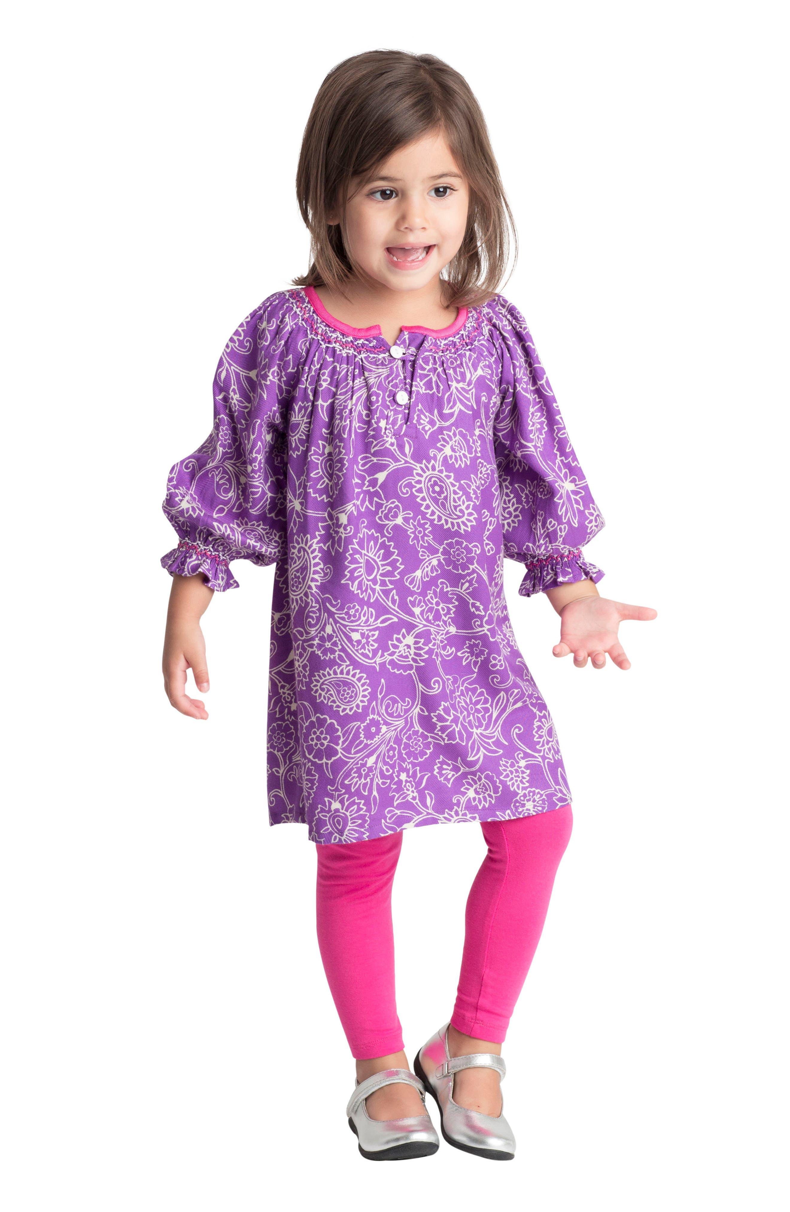 Alternate Image 2  - Masala Baby Ada Floral Dress (Baby Girls)