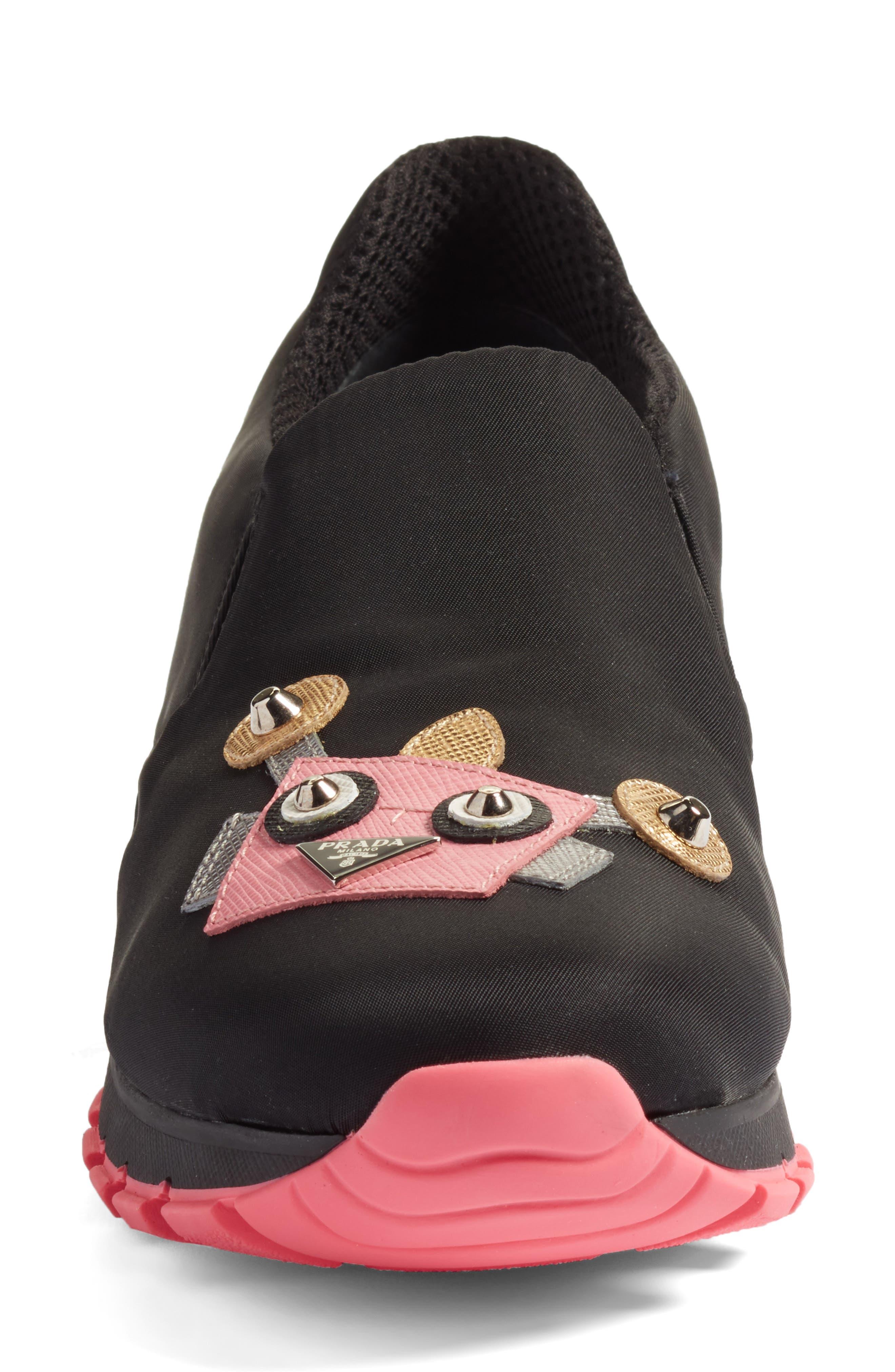 Alternate Image 4  - Prada Robot Slip-On Sneaker (Women)