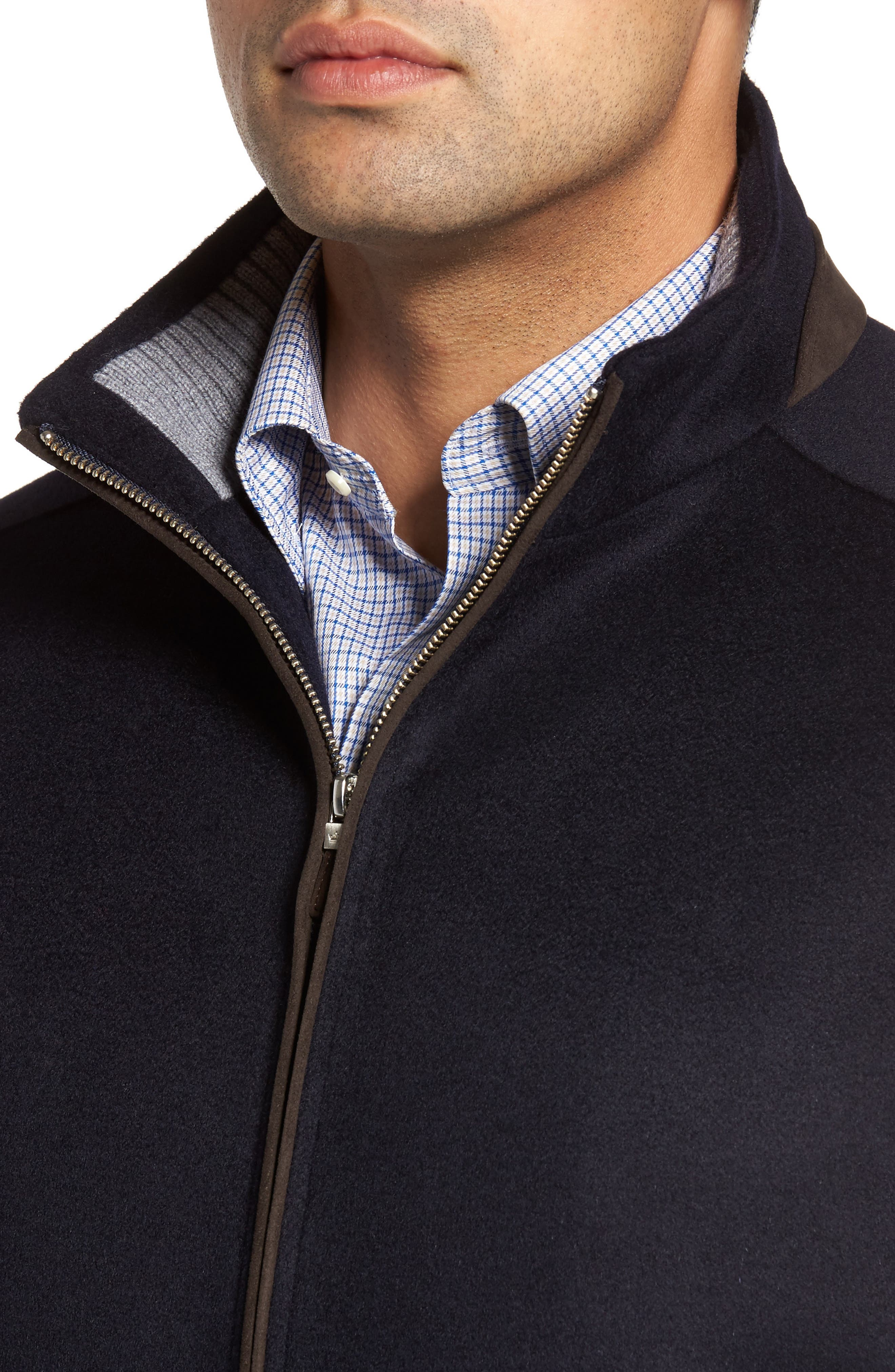 Westport Wool & Cashmere Jacket,                             Alternate thumbnail 4, color,                             Navy