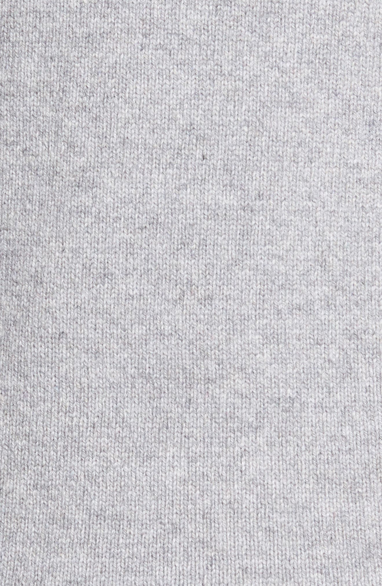 Slim Fit Merino Wool & Cashmere Cardigan,                             Alternate thumbnail 5, color,                             Silver