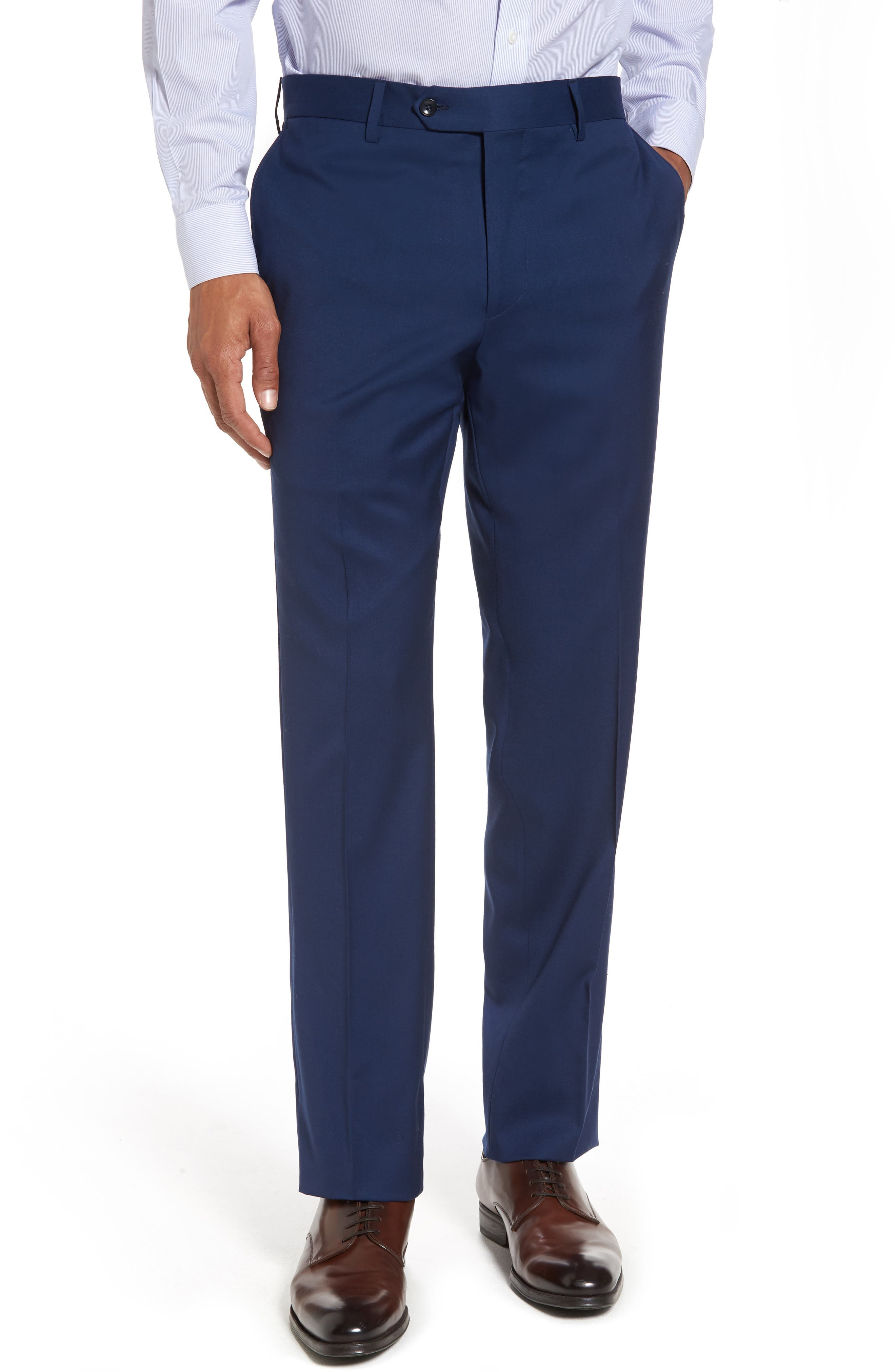 Classic Fit Solid Wool Suit,                             Alternate thumbnail 6, color,                             High Blue