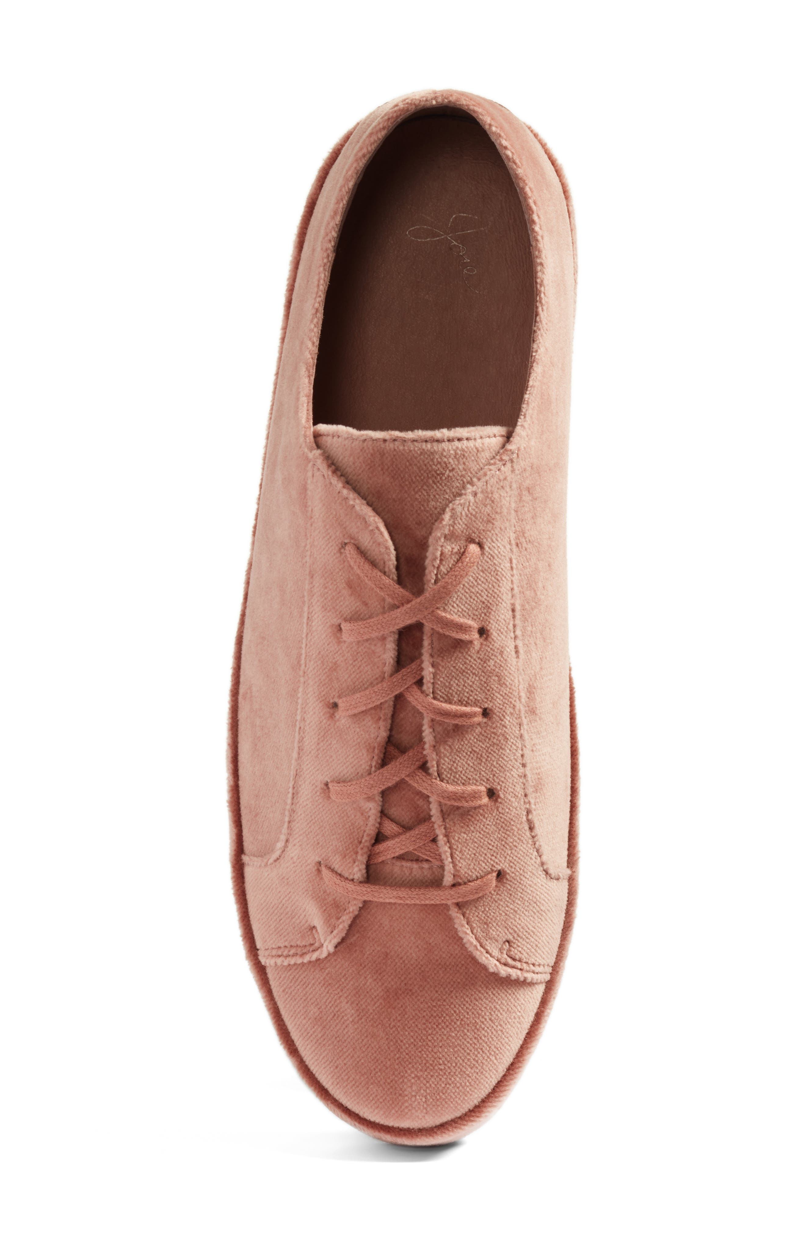Daryl Low Top Sneaker,                             Alternate thumbnail 5, color,                             Light Mauve