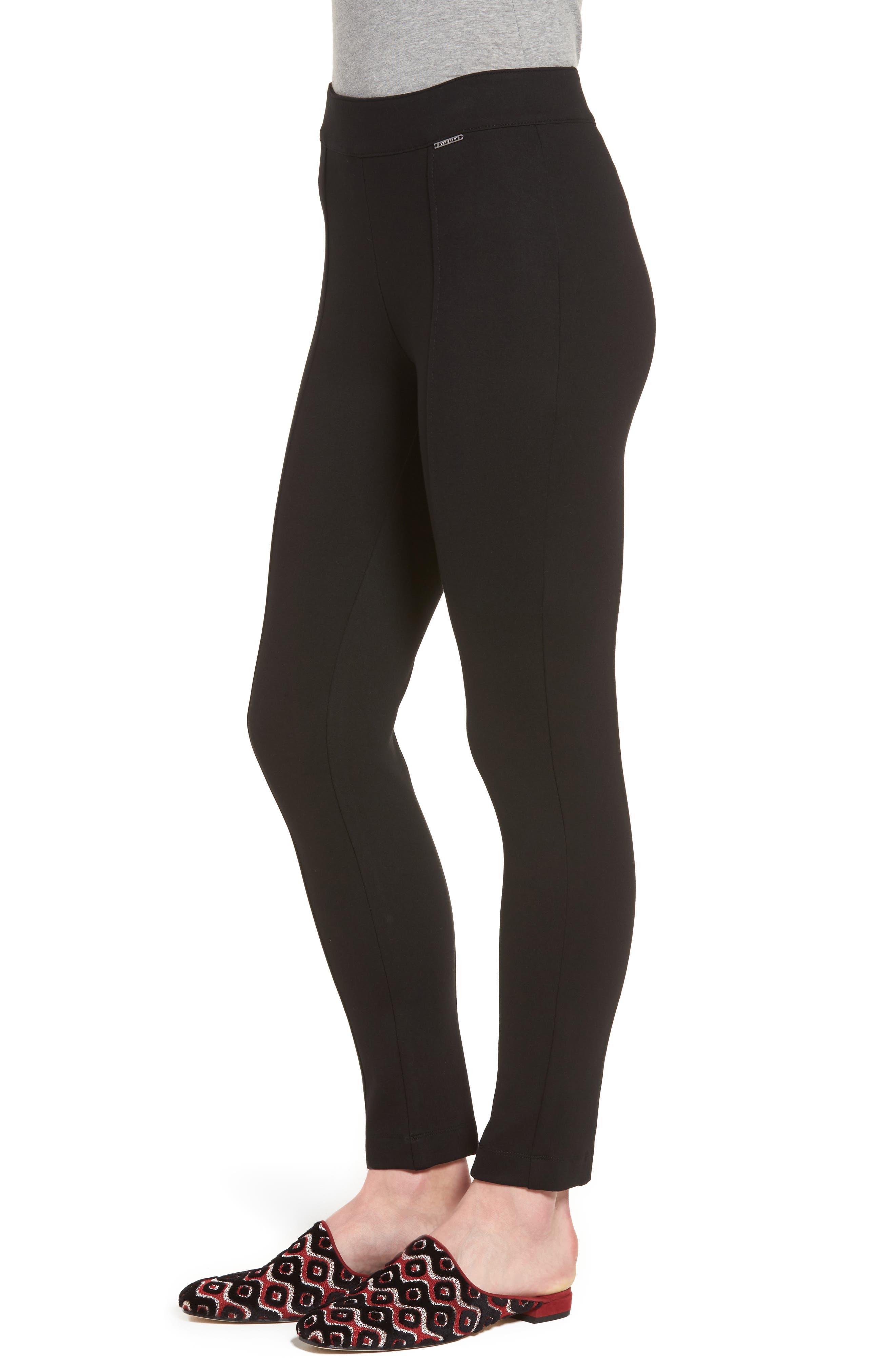 Compression Slim Leg Pants,                             Alternate thumbnail 3, color,                             Black
