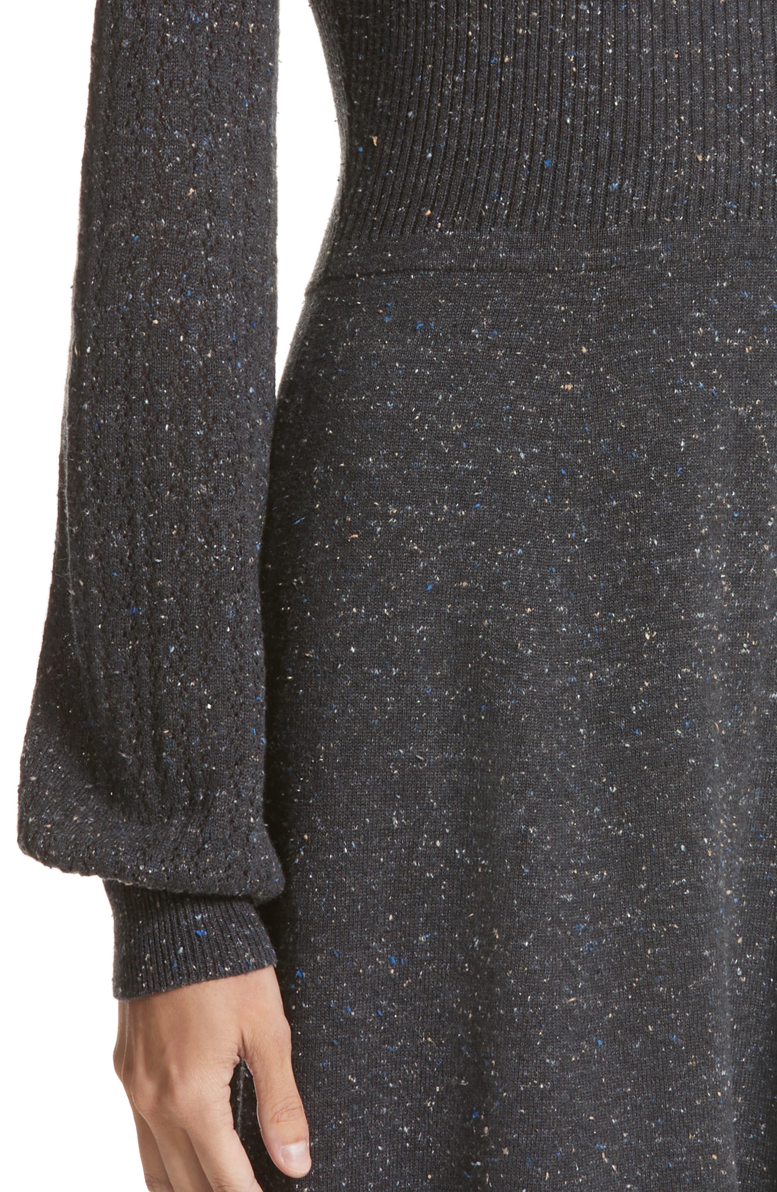 Knit Sweater Dress,                             Alternate thumbnail 4, color,                             Dark Grey