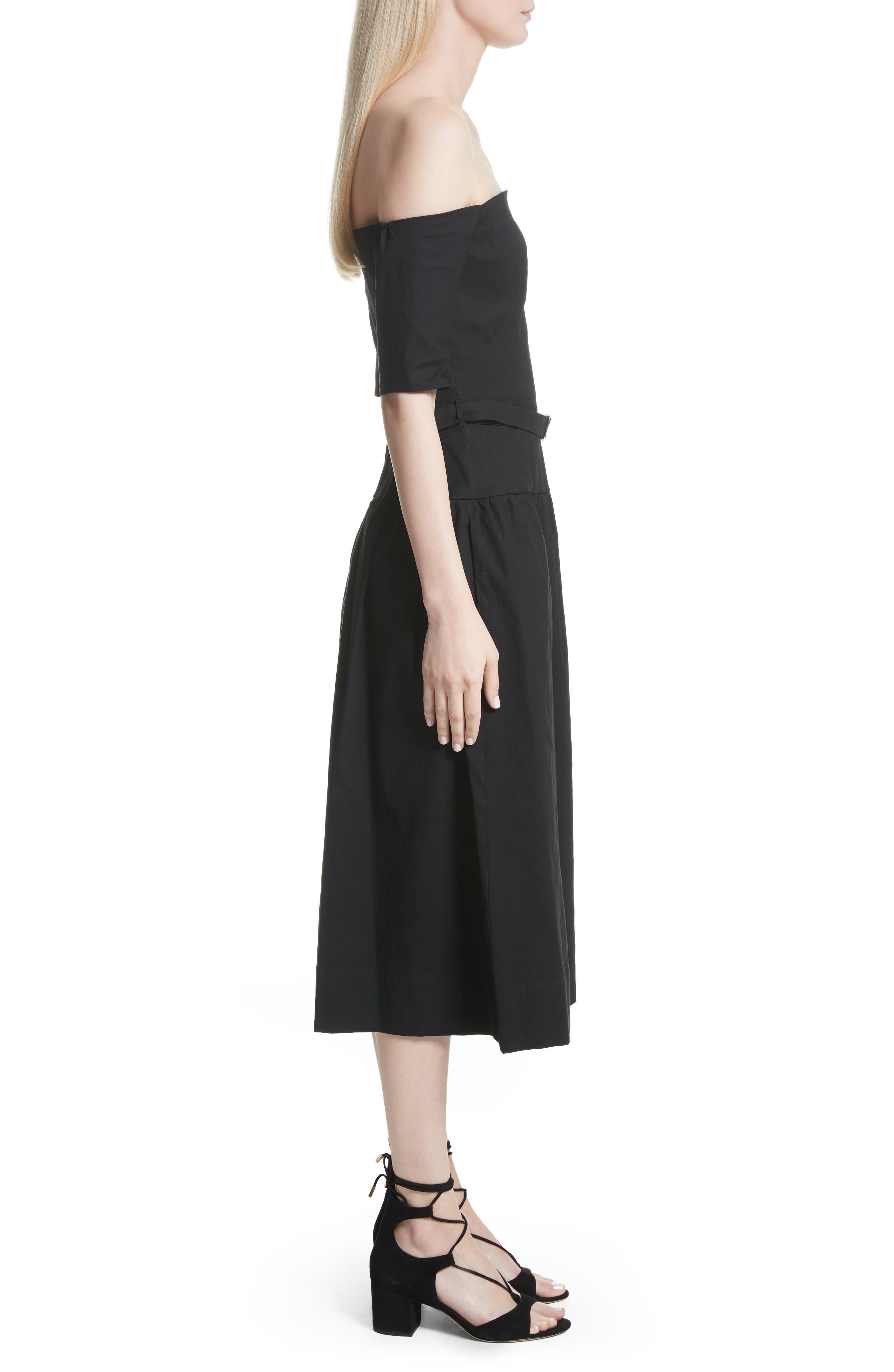 Strapless Dress,                             Alternate thumbnail 3, color,                             Black