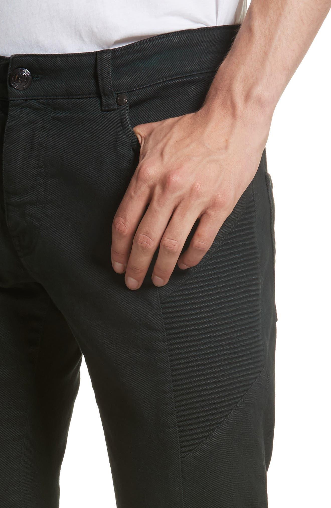 Moto Jeans,                             Alternate thumbnail 4, color,                             Dark Green