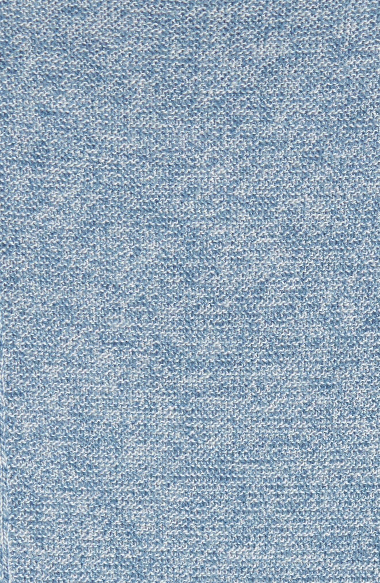 Valley V-Neck Sweater Vest,                             Alternate thumbnail 5, color,                             Blue Print/ White Melange