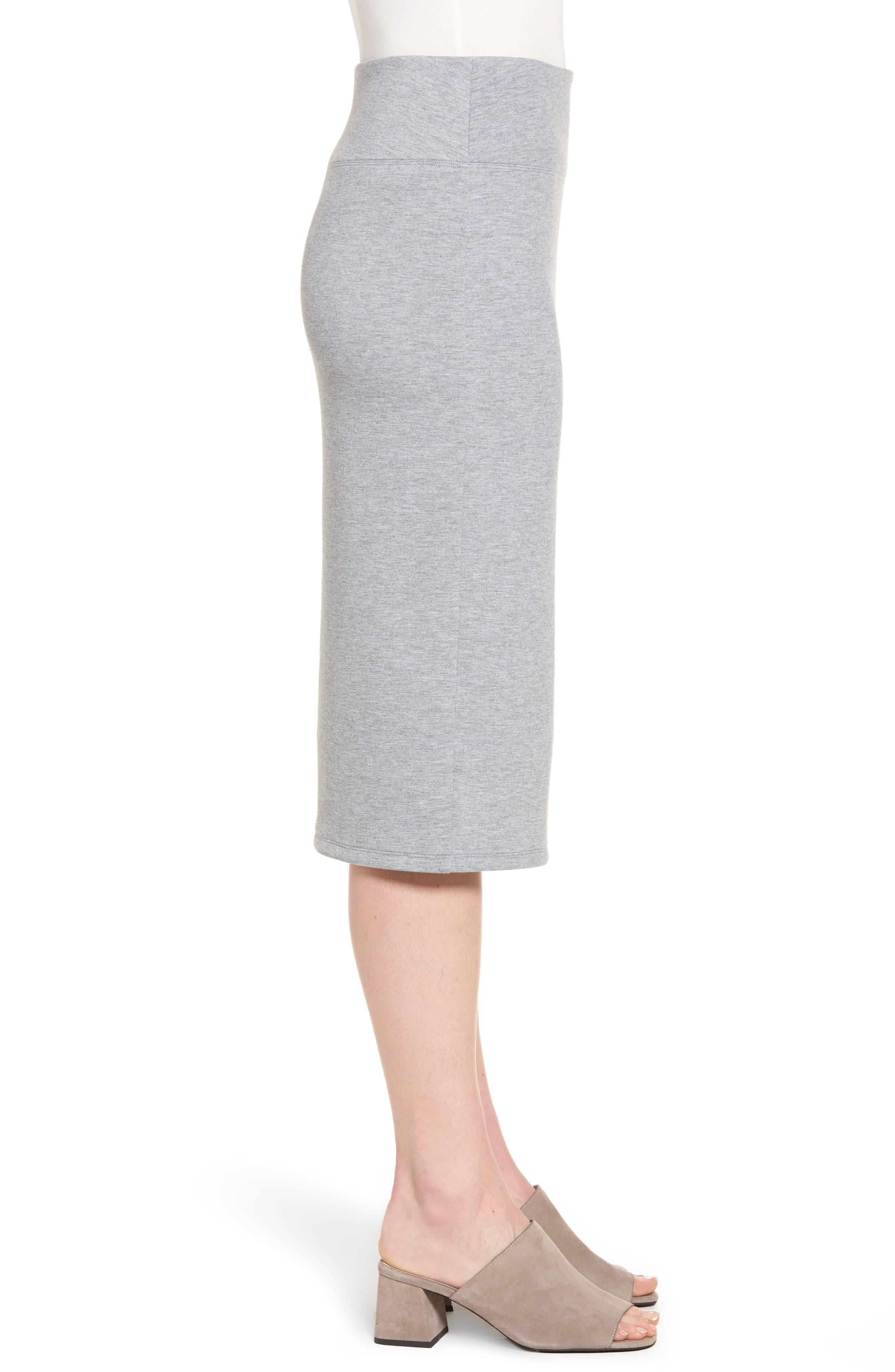 Alternate Image 3  - Halogen® Neoprene Knit Pencil Skirt (Regular & Petite)