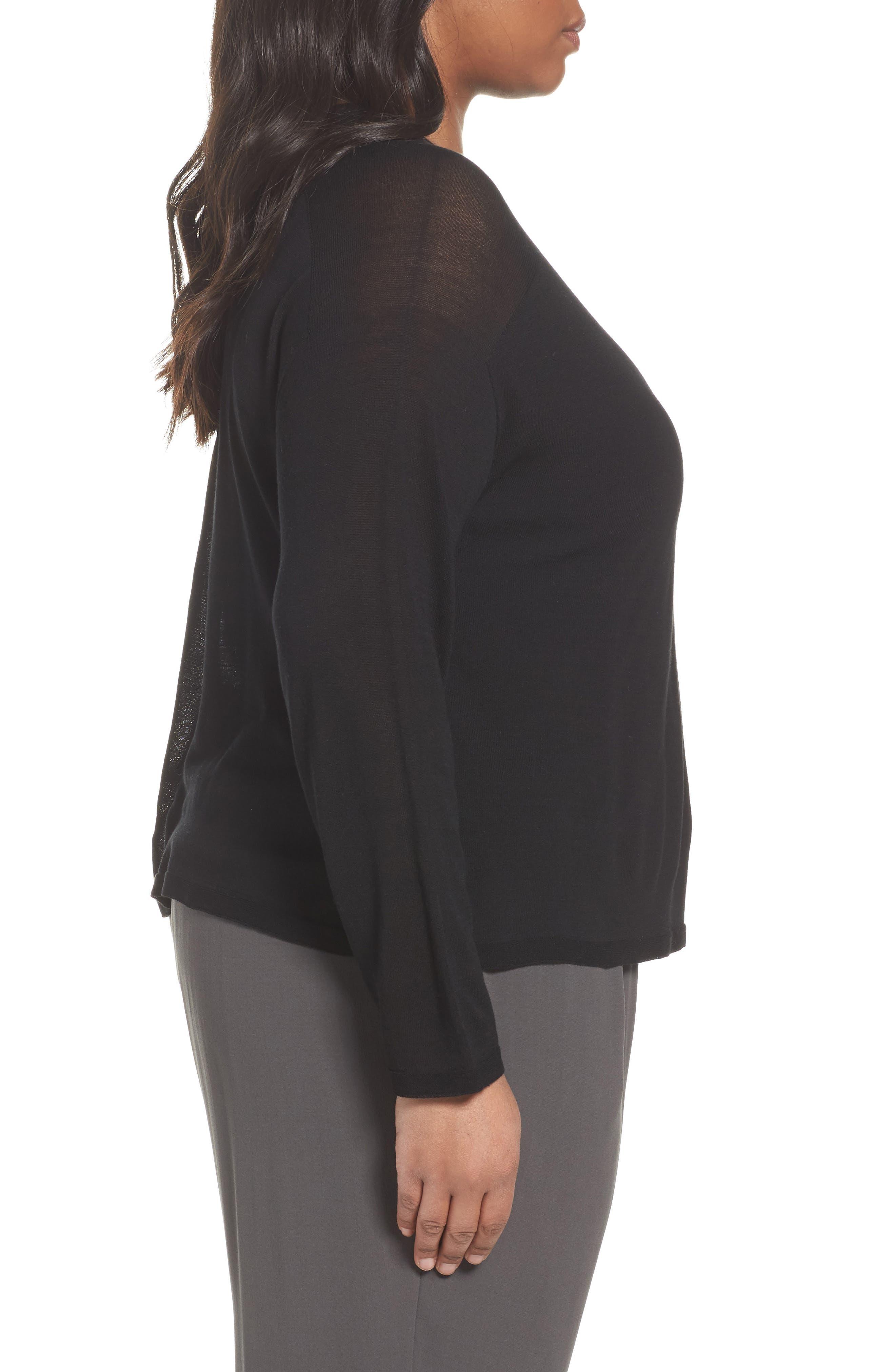 Alternate Image 3  - Eileen Fisher Tencel® Knit Top (Plus Size)