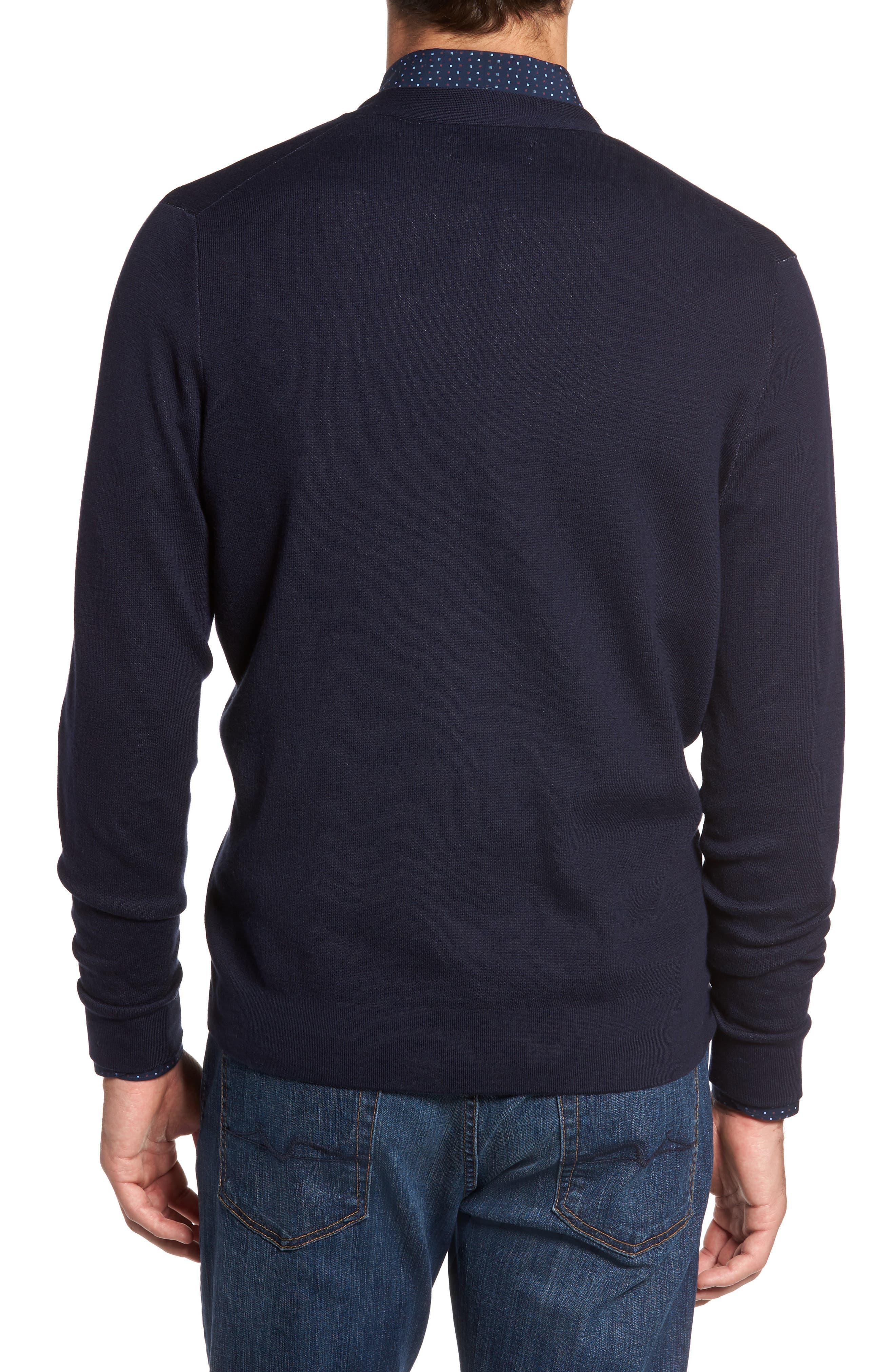 Alternate Image 2  - Nordstrom Men's Shop Cotton Blend Cardigan