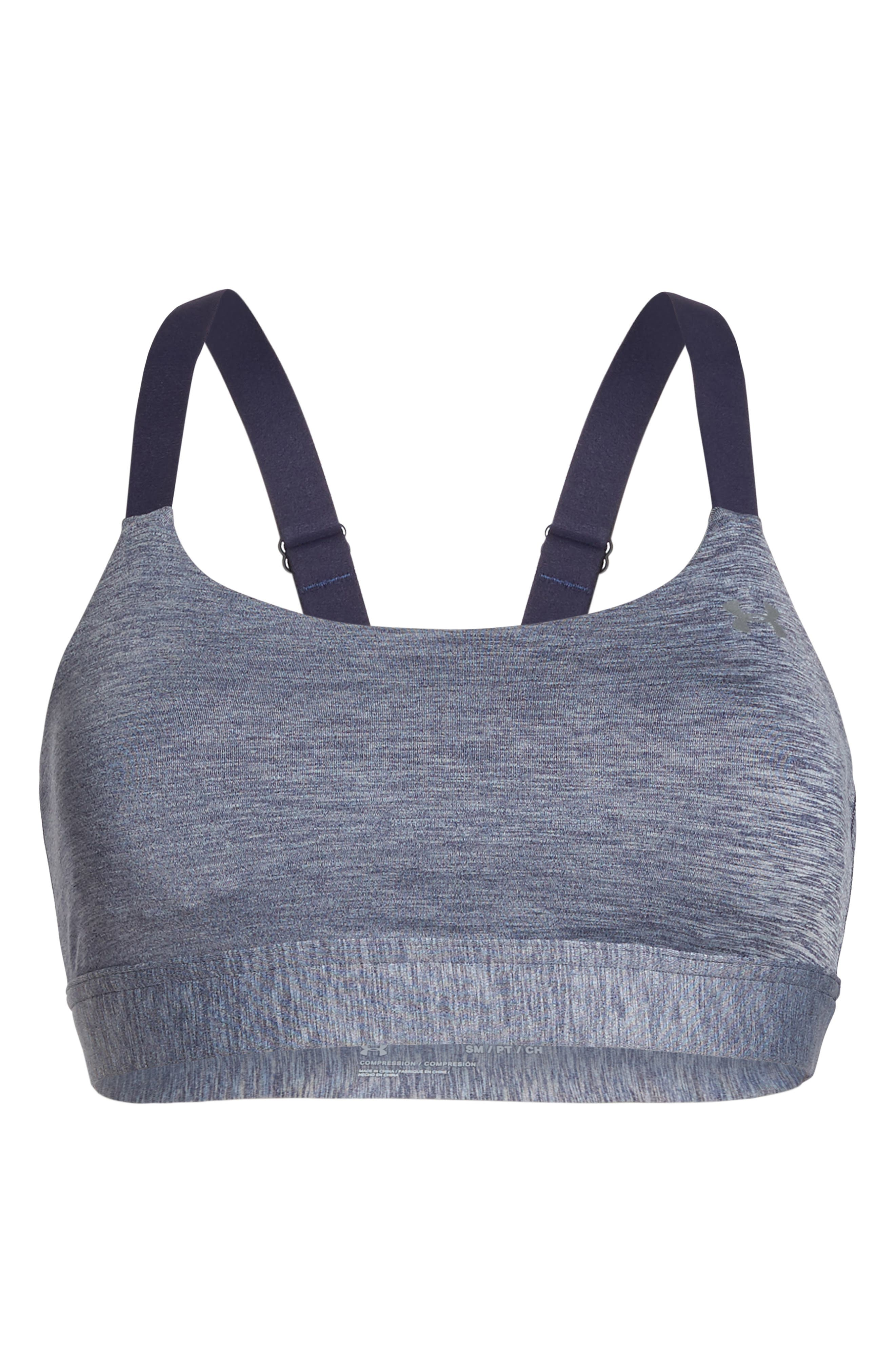 Eclipse Sports Bra,                             Alternate thumbnail 6, color,                             Navy/ Light Heather/ Silver