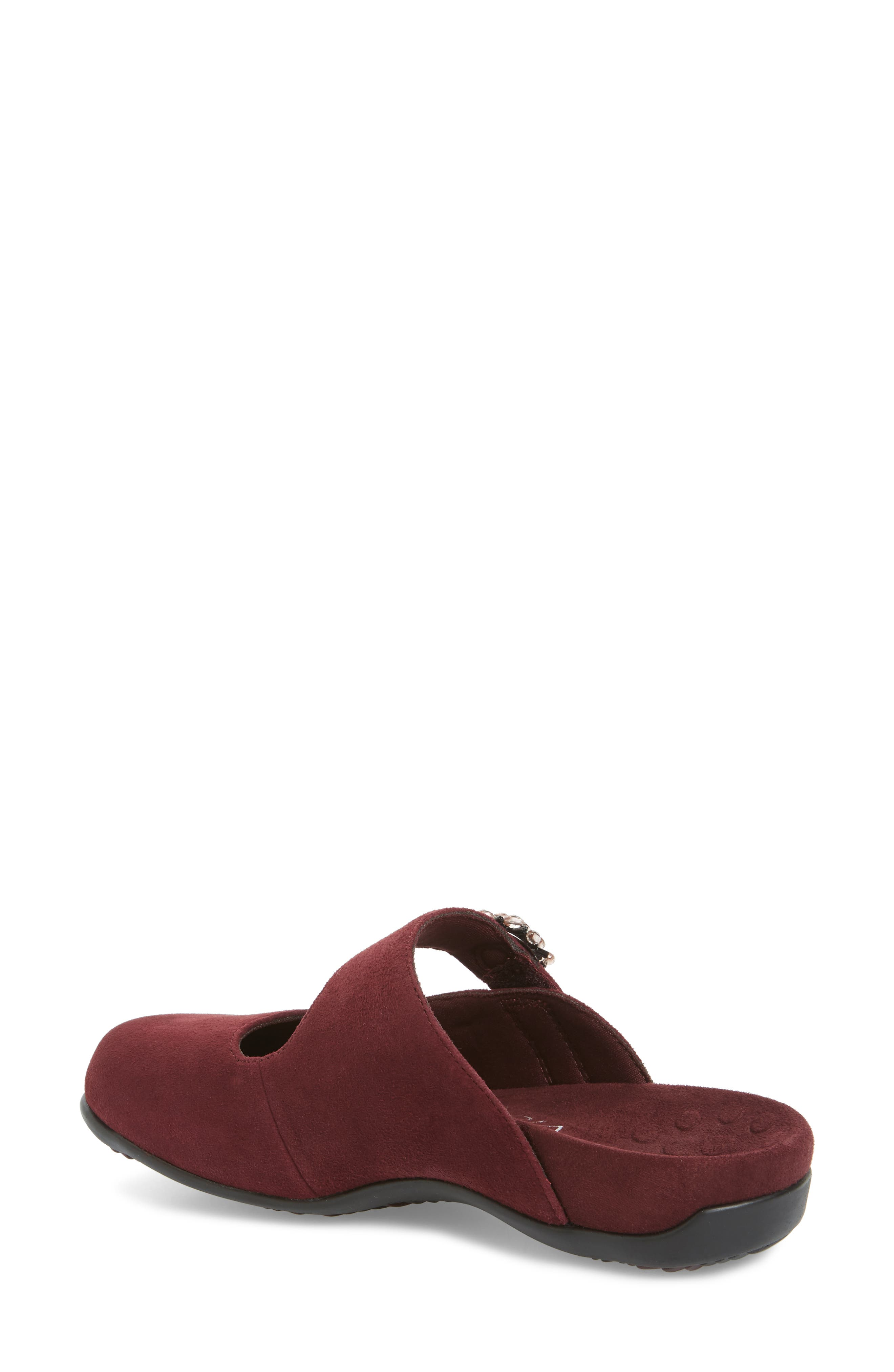 Rest Joan Mary Jane Mule,                             Alternate thumbnail 2, color,                             Merlot Suede