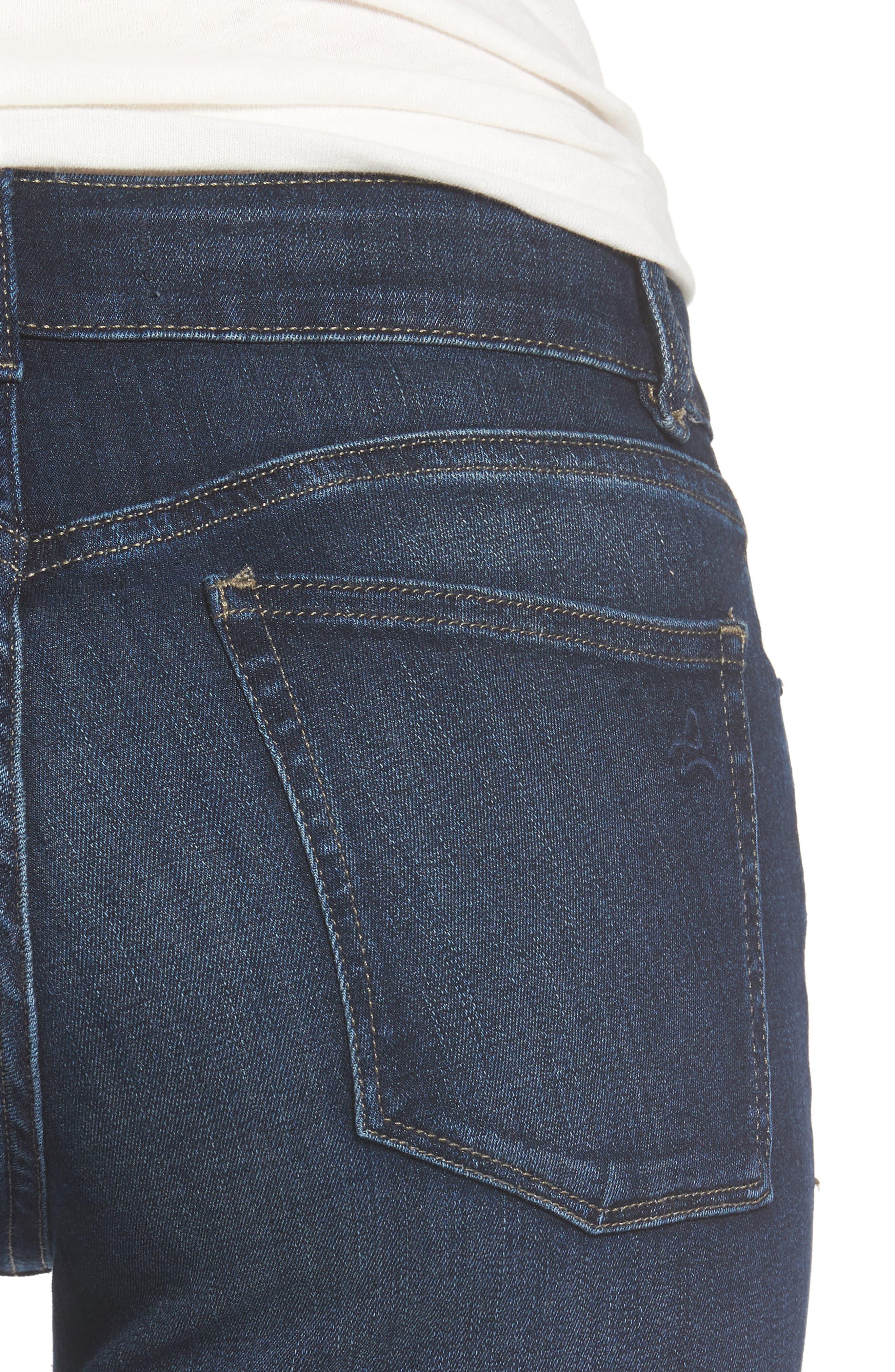 Margaux Instasculpt Ankle Skinny Jeans,                             Alternate thumbnail 4, color,                             Salt Creek
