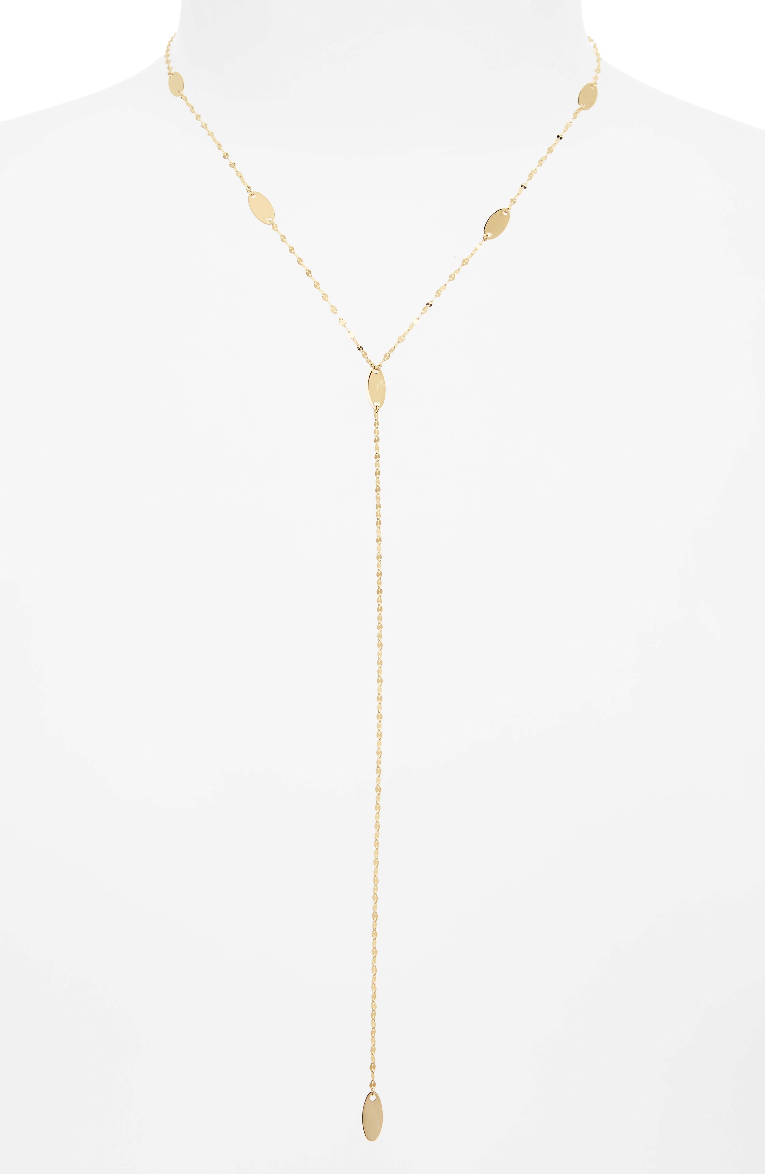 Bond Long Ombré Marquis Lariat Necklace,                         Main,                         color, Yellow Gold