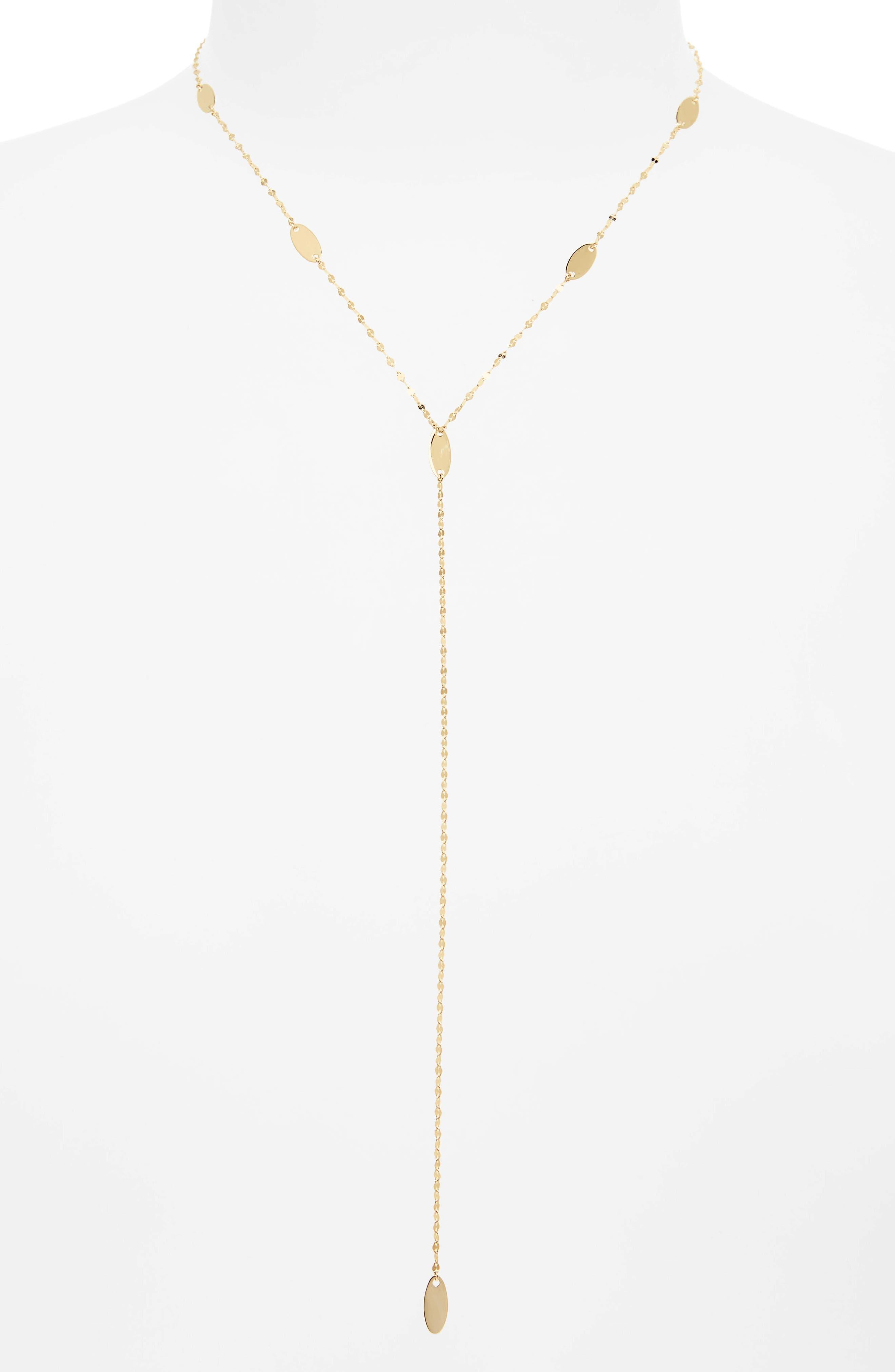 Lana Jewelry Bond Long Ombré Marquis Lariat Necklace