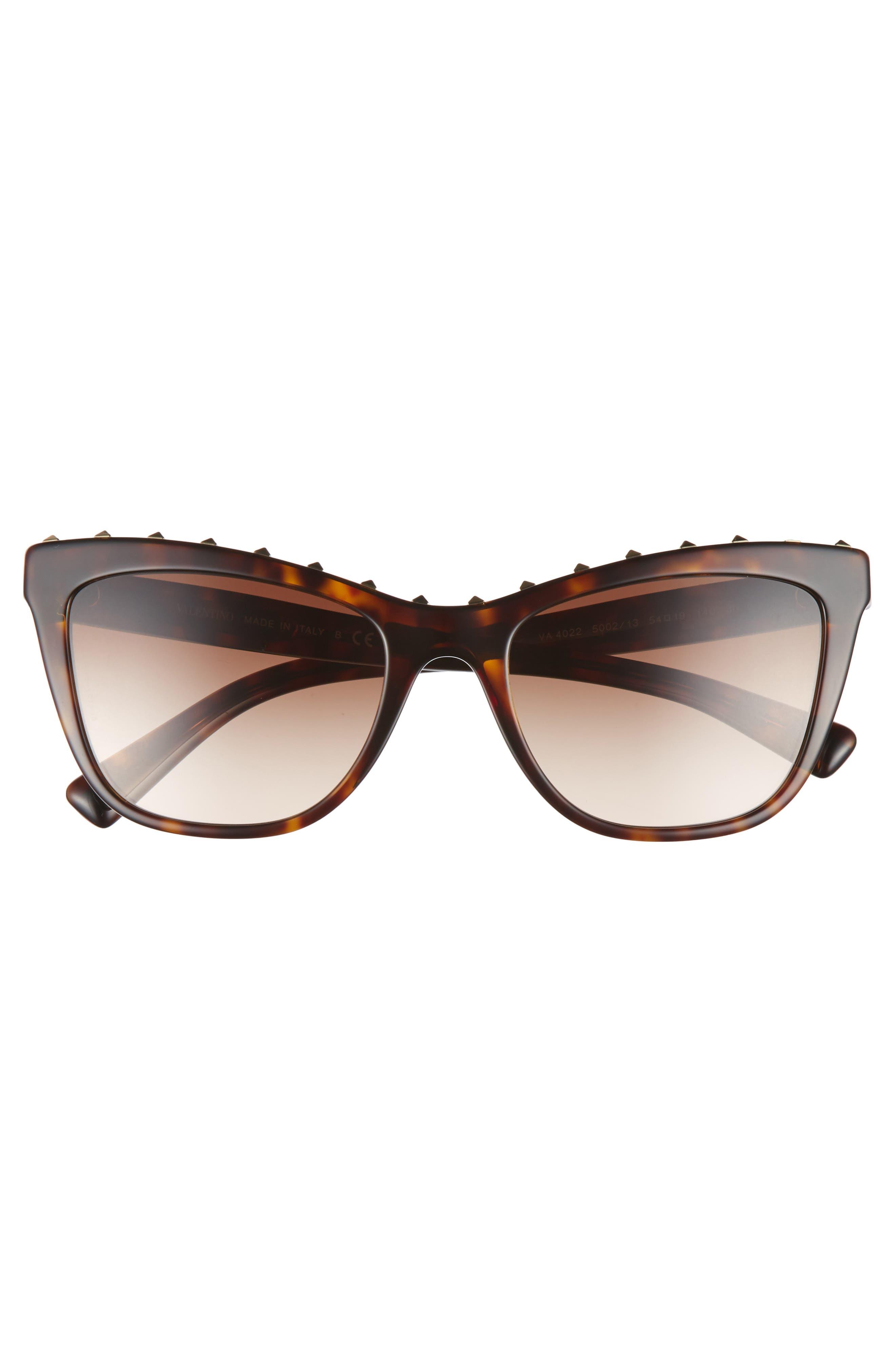 Alternate Image 2  - Valentino Rockstud 54mm Cat Eye Sunglasses
