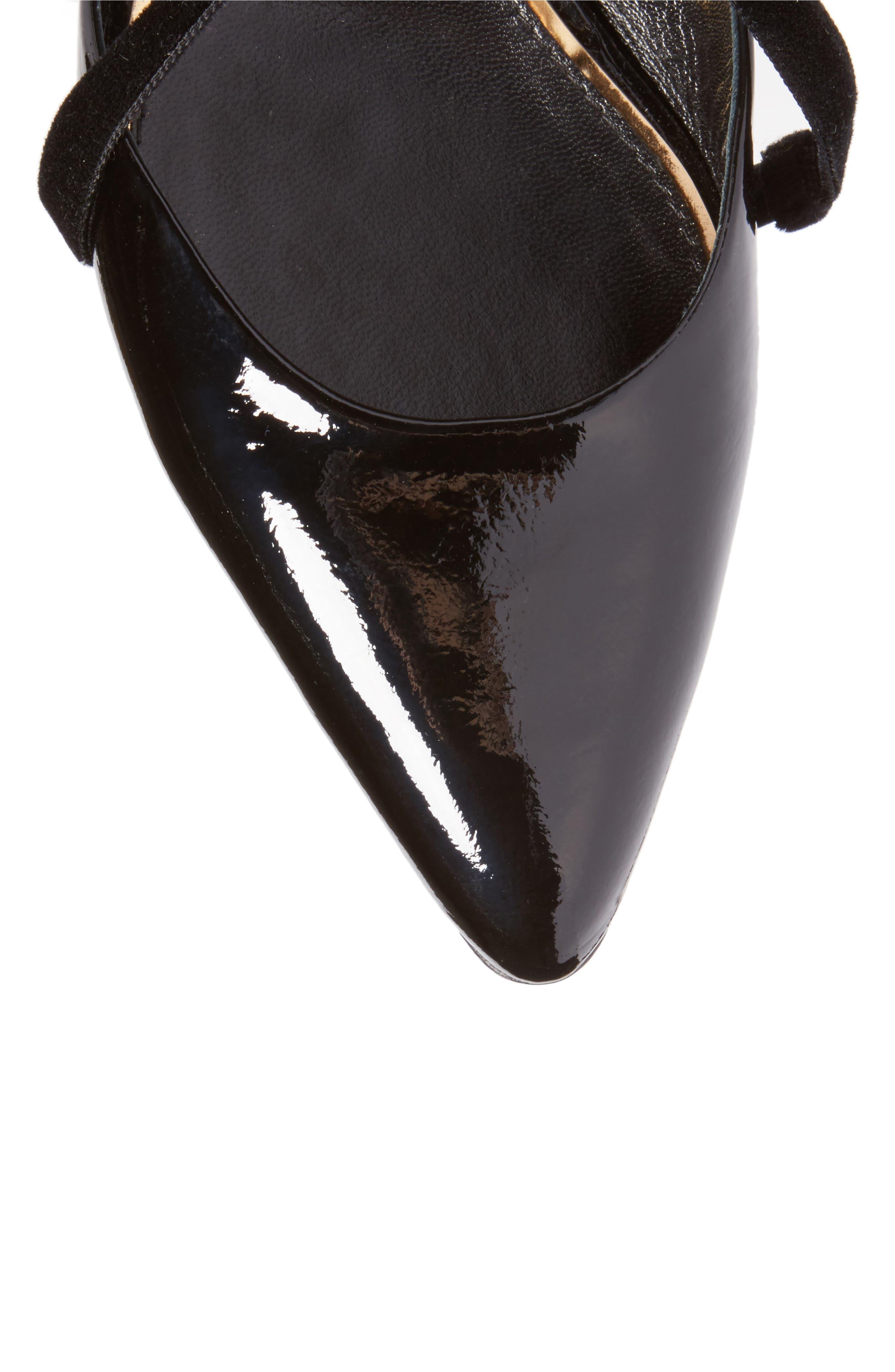 Strappy Ballet Flat,                             Alternate thumbnail 5, color,                             Black