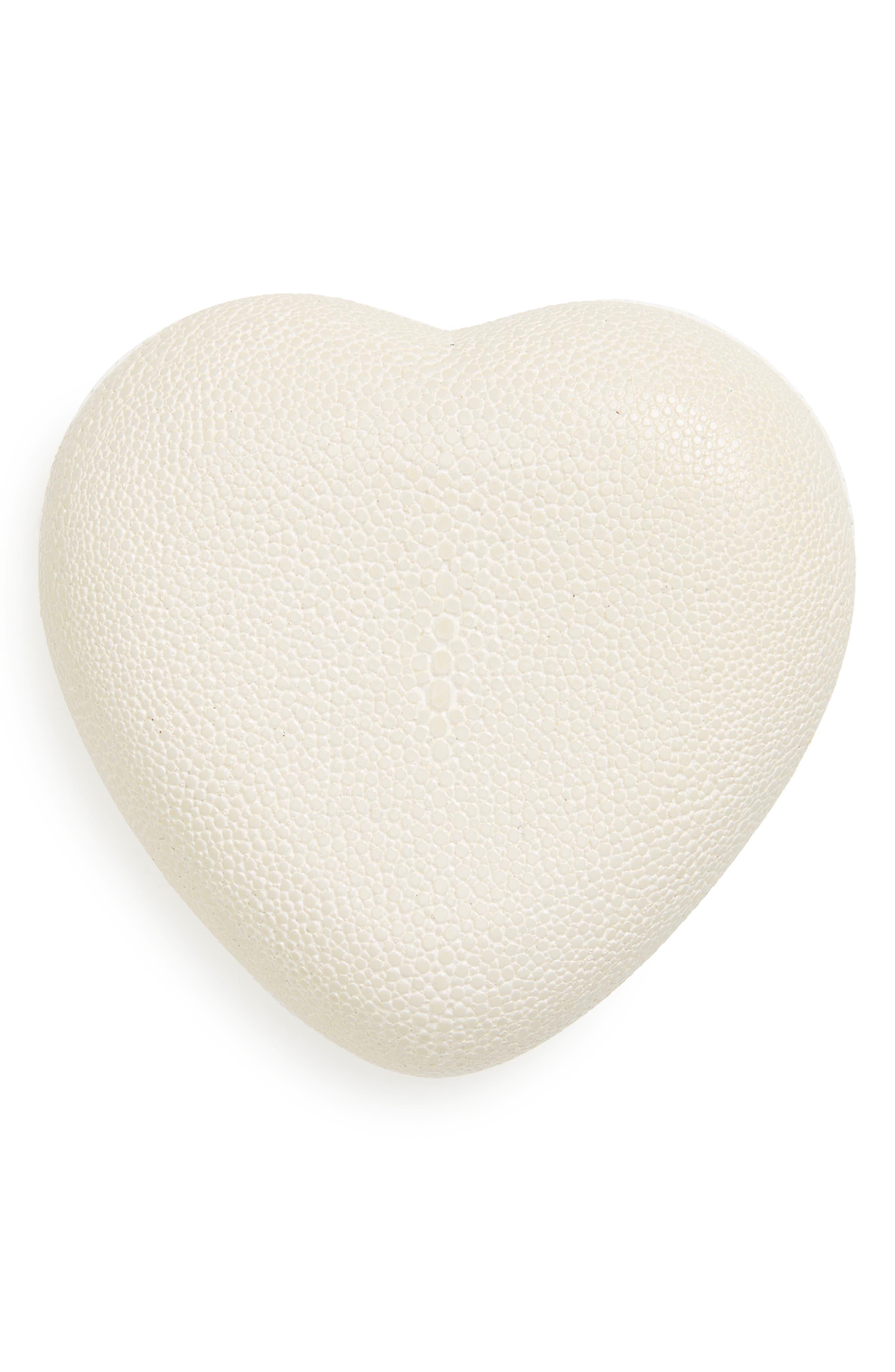 Alternate Image 1 Selected - AERIN Shagreen Heart Box