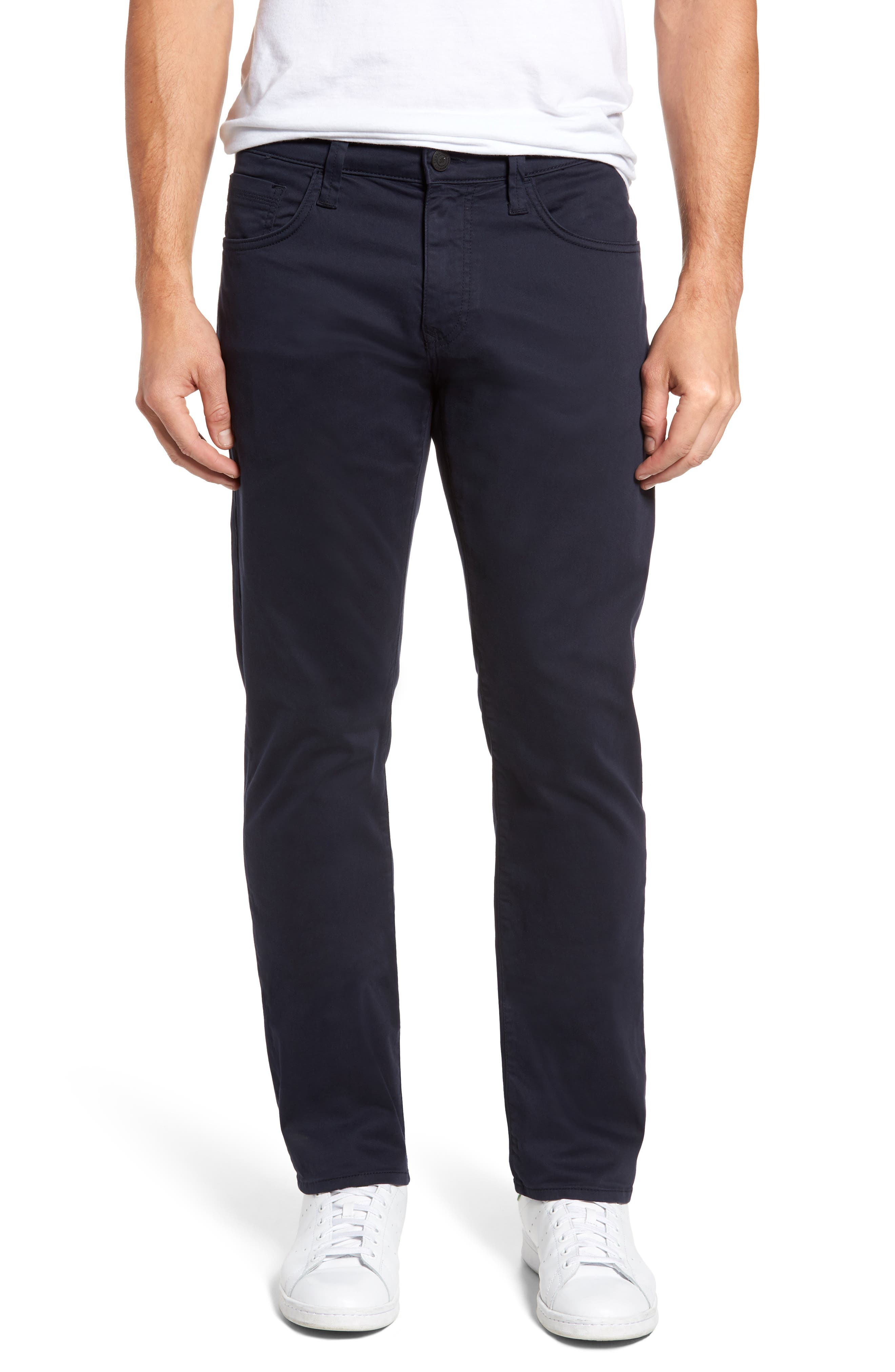 Zach Straight Fit Twill Pants,                         Main,                         color, Dark Navy Twill