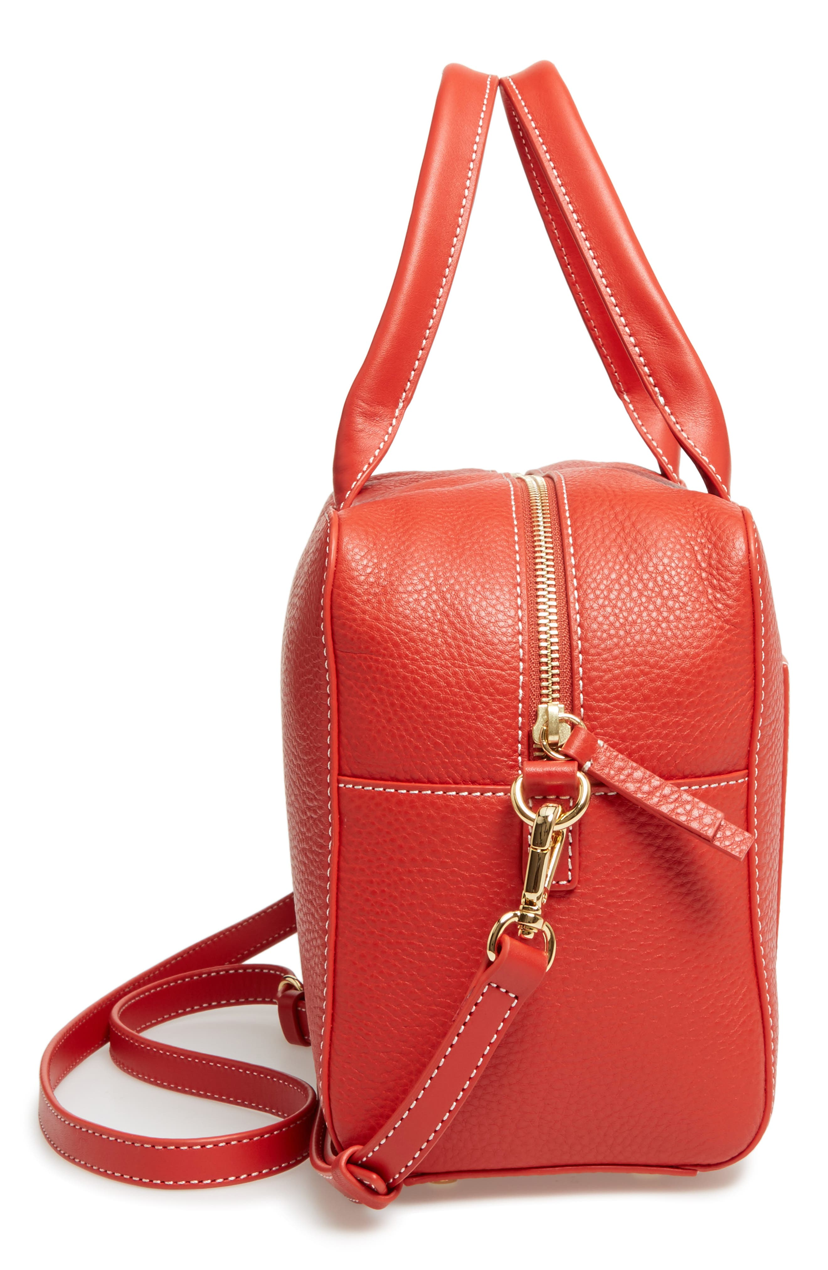Medium Maddy Satchel,                             Alternate thumbnail 6, color,                             Coral