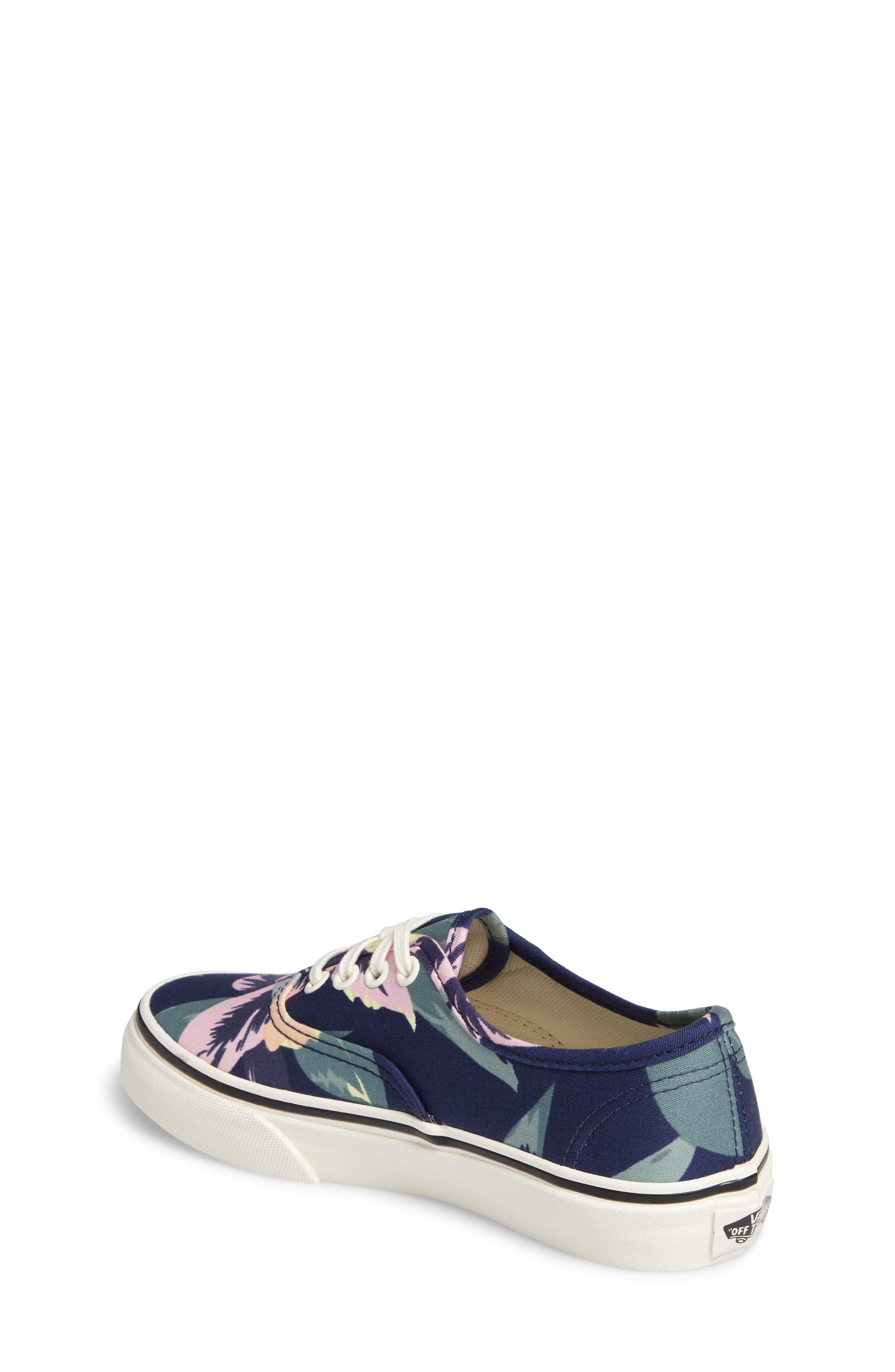 Alternate Image 2  - Vans Authentic Floral Print Sneaker (Toddler, Little Kid & Big Kid)