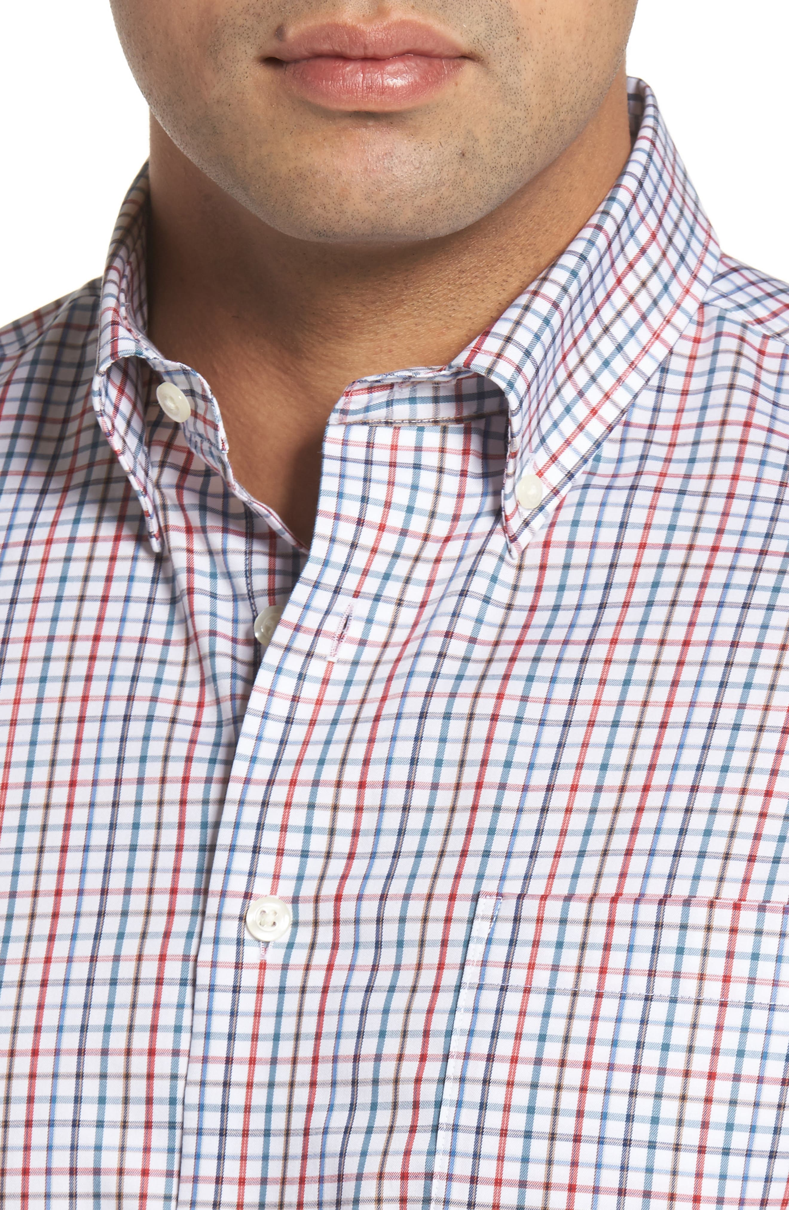 Snyder Classic Fit Check Sport Shirt,                             Alternate thumbnail 4, color,                             Phoenix