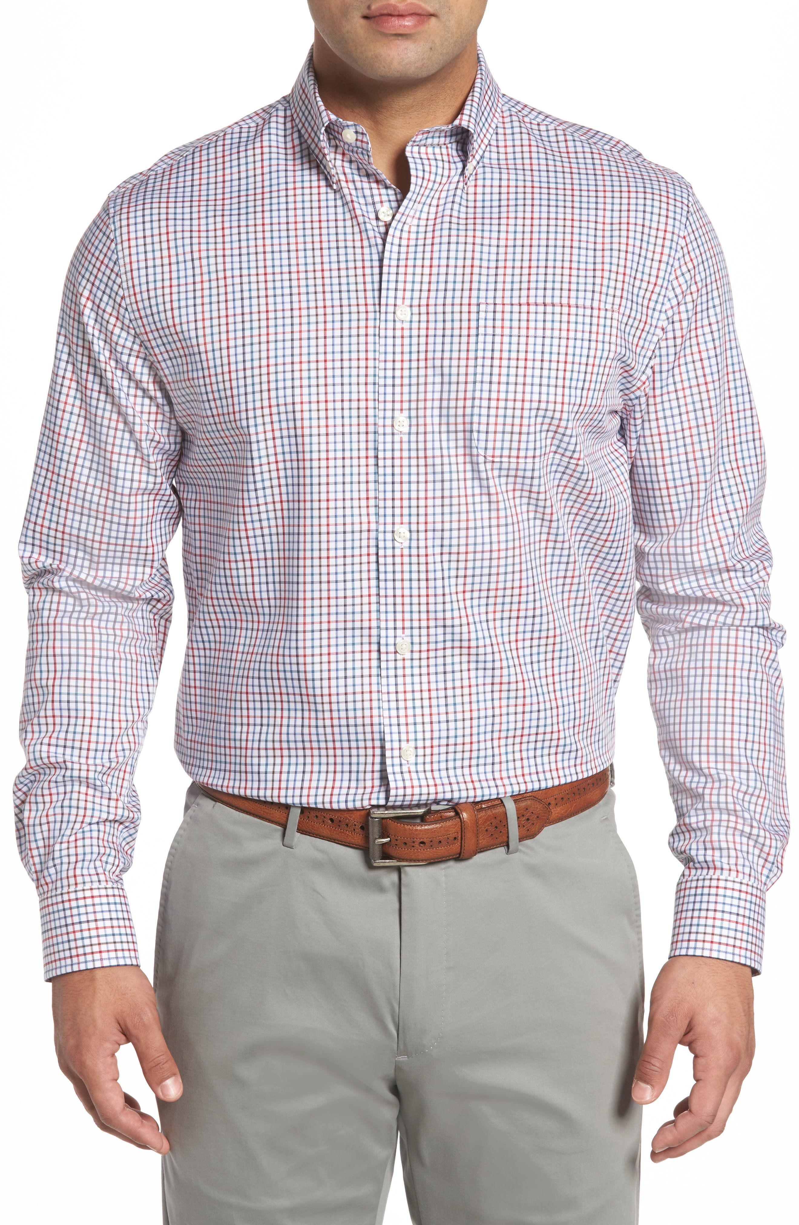 Snyder Classic Fit Check Sport Shirt,                             Main thumbnail 1, color,                             Phoenix
