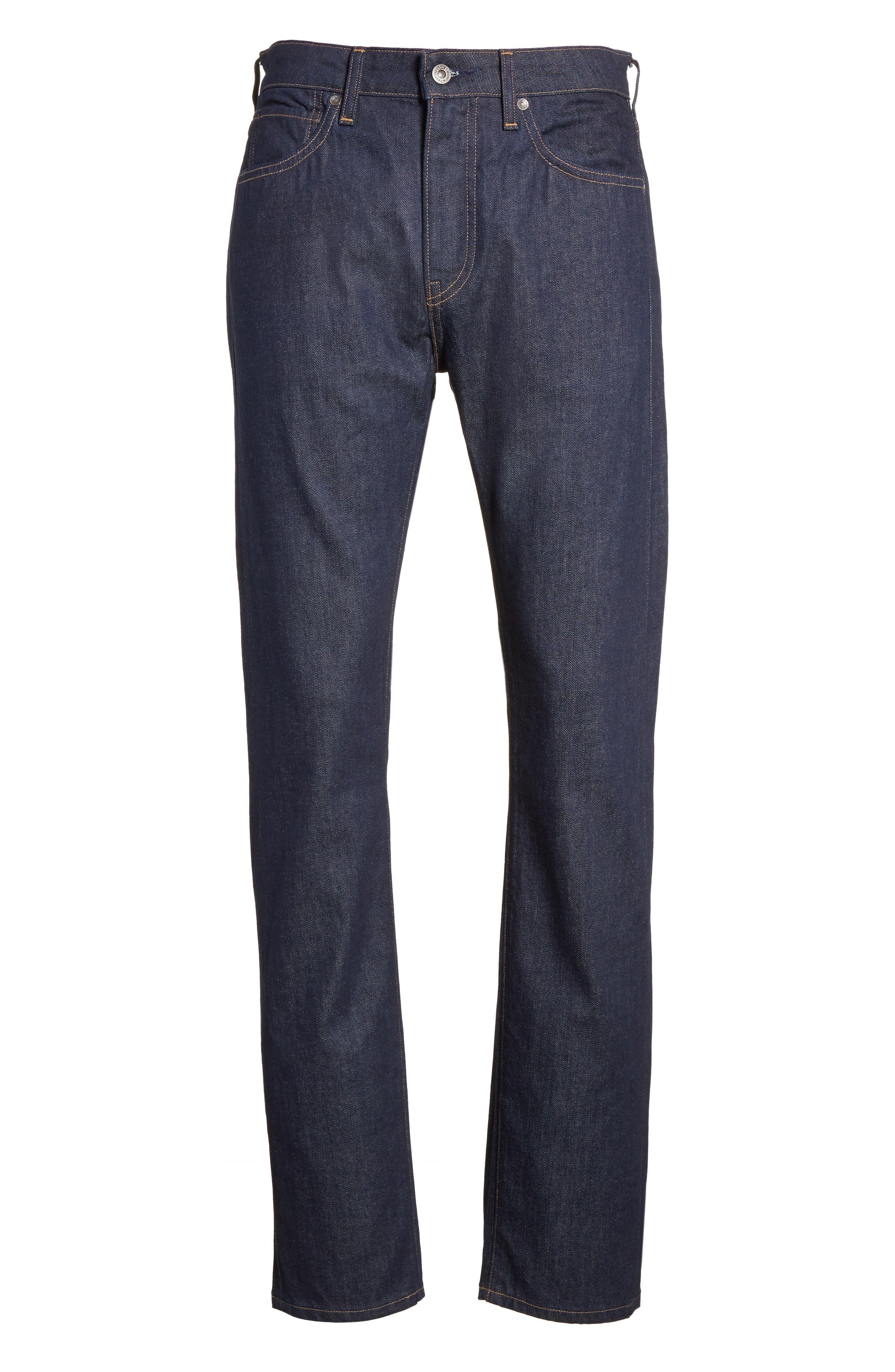 Tack Slim Fit Jeans,                             Alternate thumbnail 6, color,                             Dark Blue